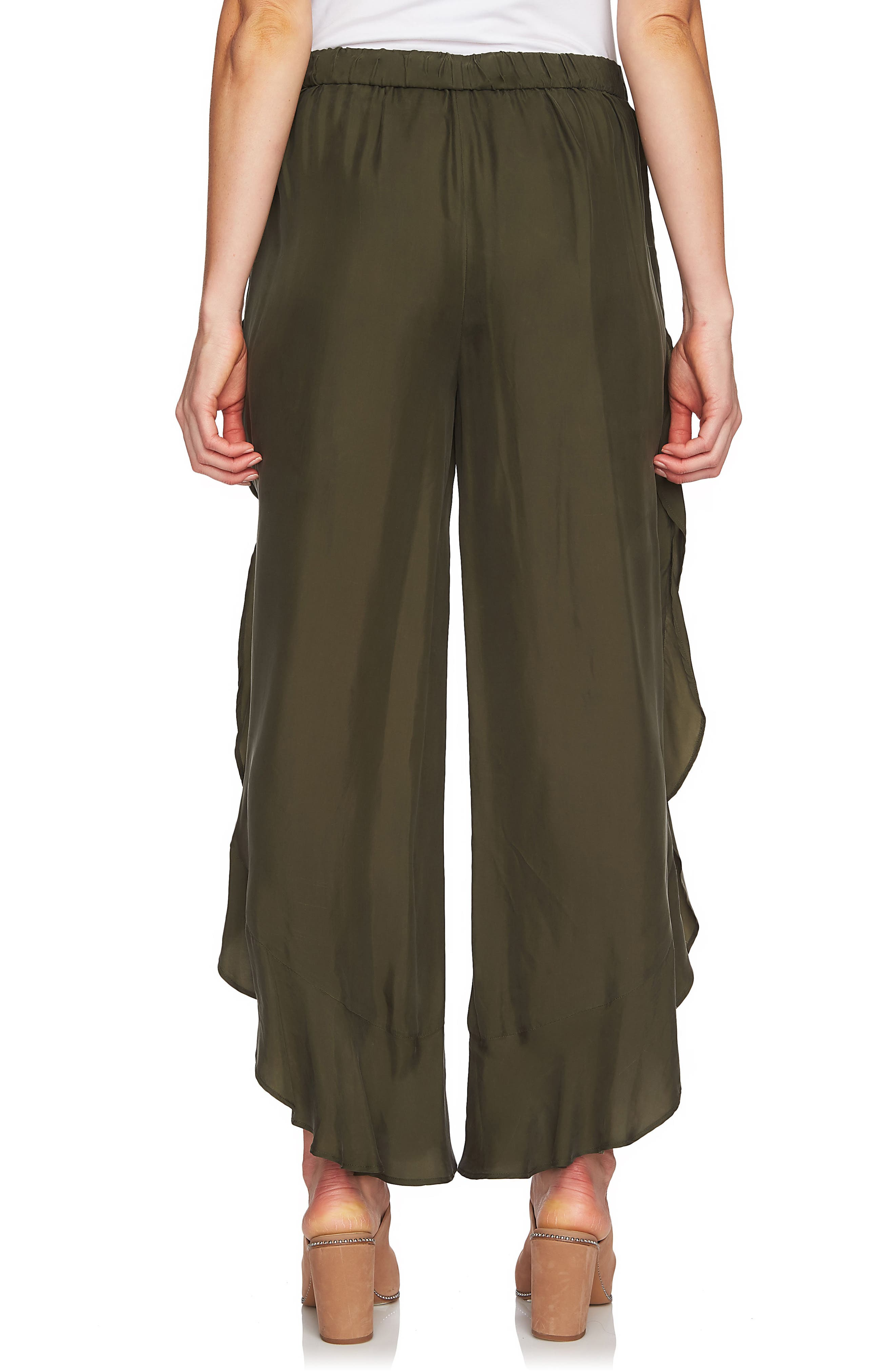 1.STATE,                             Ruffle Wide Leg Pants,                             Alternate thumbnail 2, color,                             OLIVE TREE