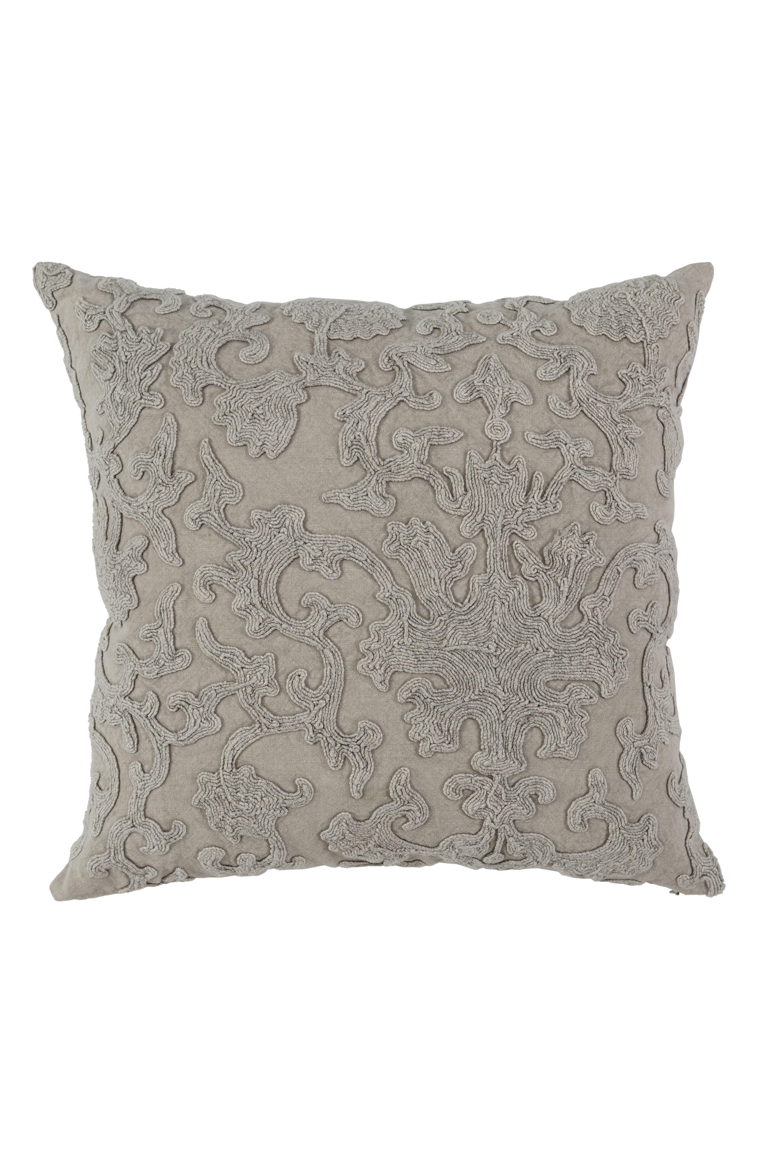 Portia Linen Accent Pillow,                             Main thumbnail 1, color,                             NATURAL