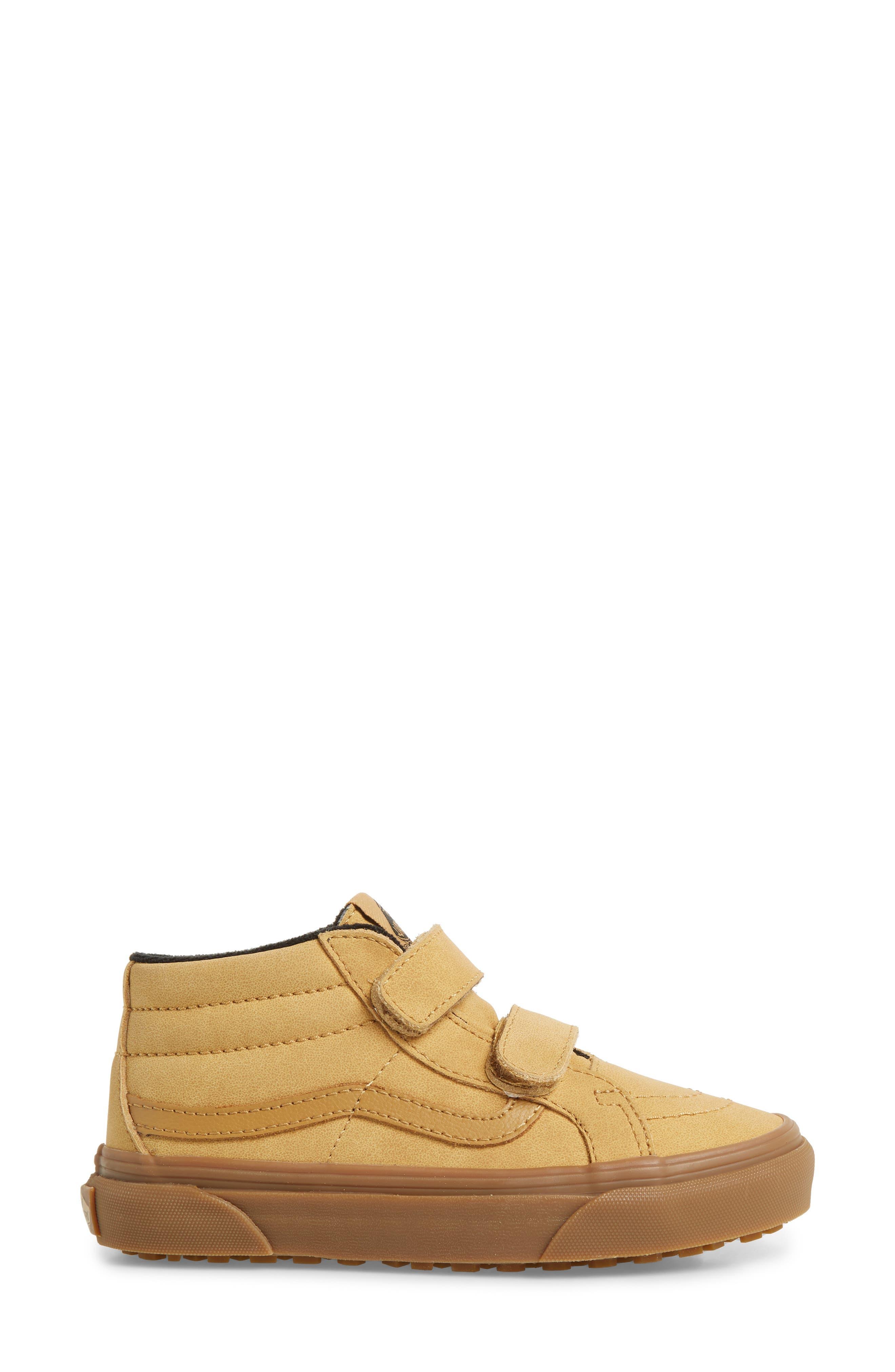 VANS,                             Sk8-Mid Reissue V Sneaker,                             Alternate thumbnail 3, color,                             VANSBUCK/ APPLE CINNAMON