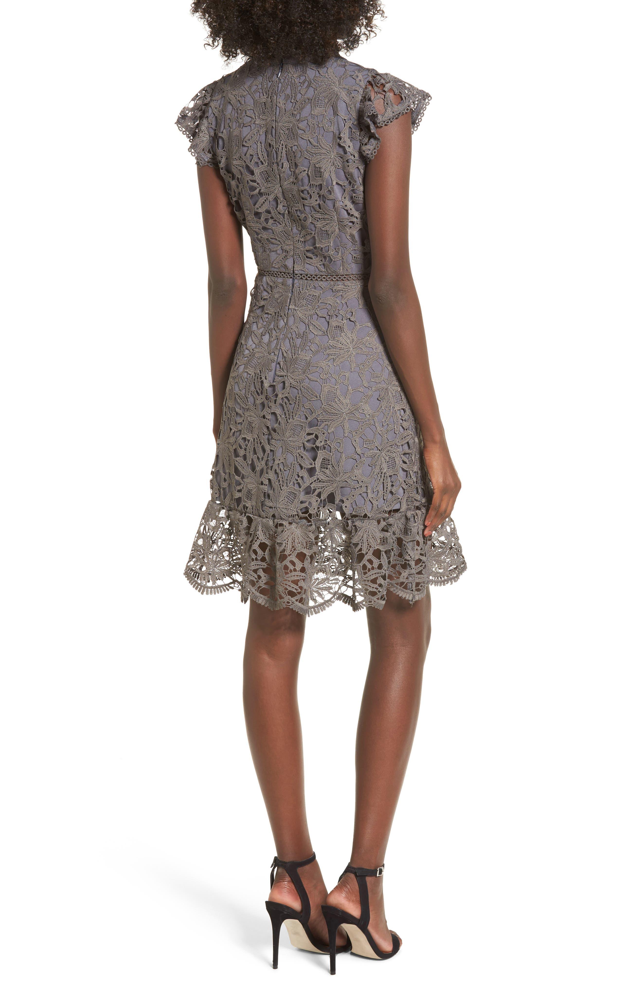 Choker Lace Dress,                             Alternate thumbnail 2, color,                             020