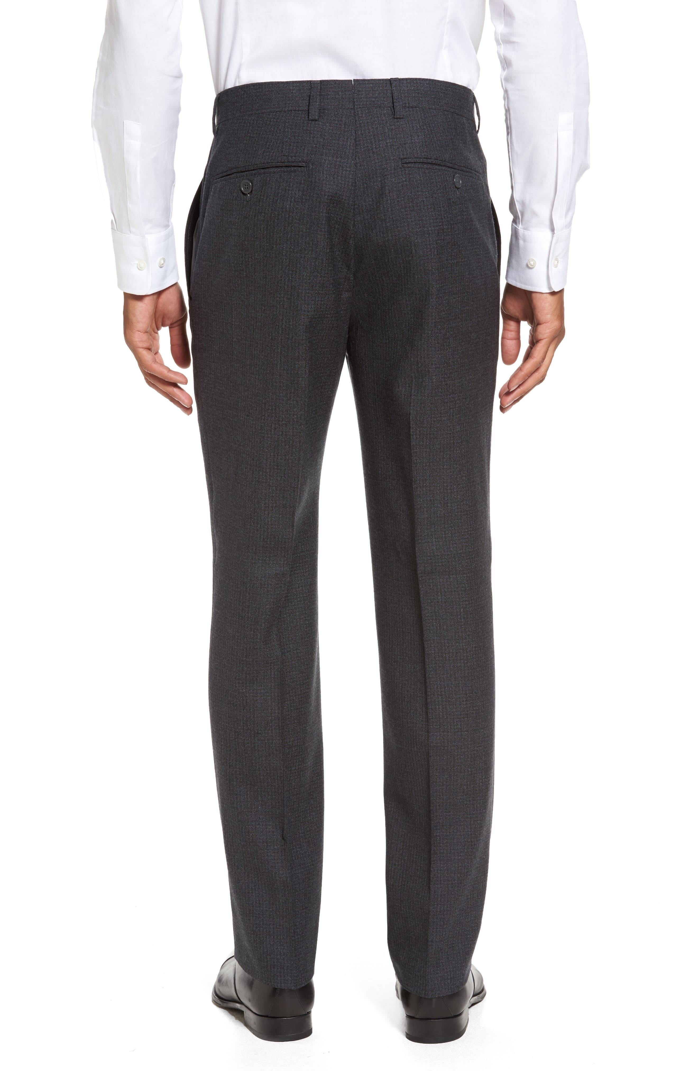 Romero Regular Fit Flat Front Trousers,                             Alternate thumbnail 3, color,                             010