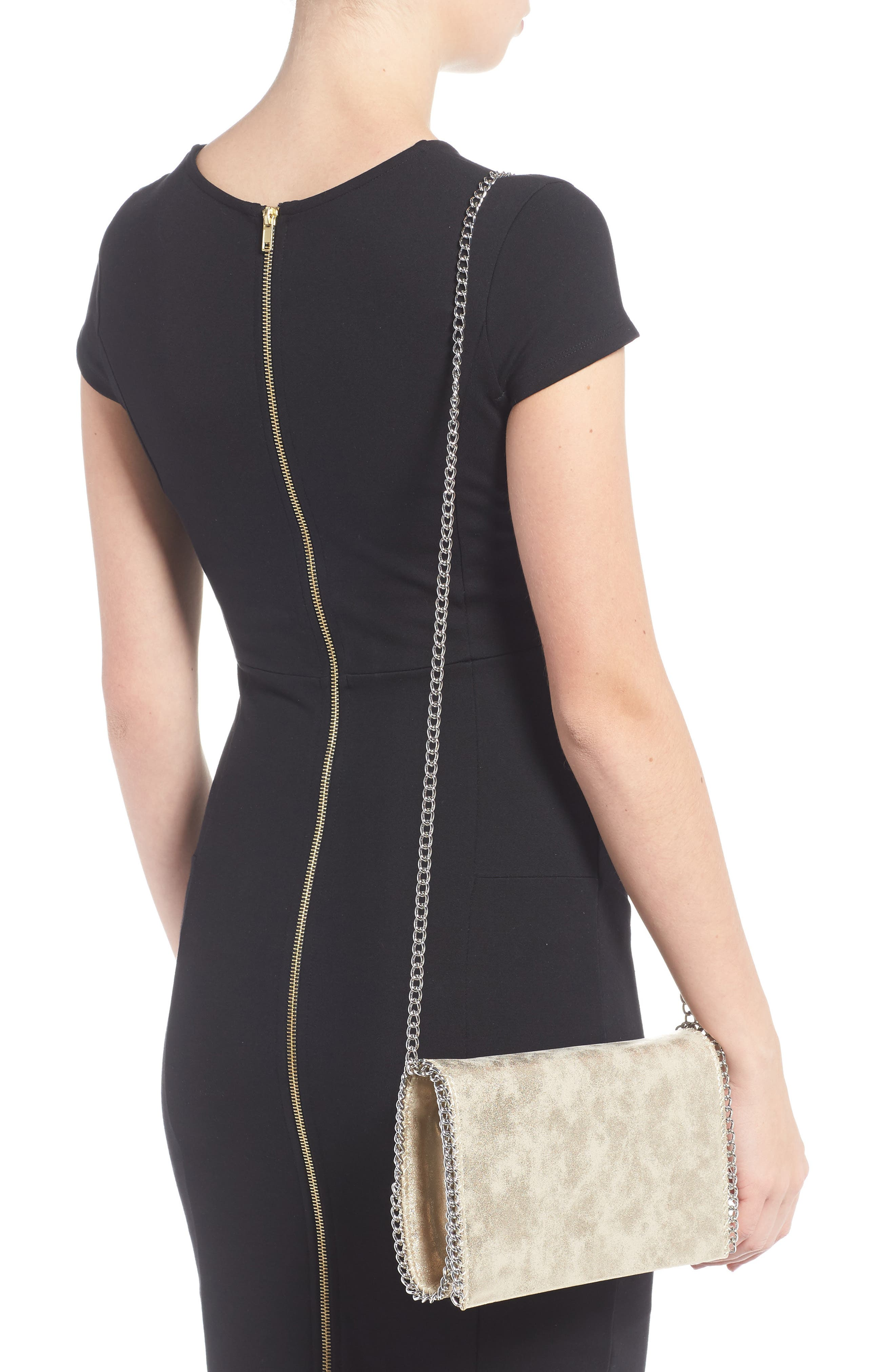 Faux Leather Crossbody Clutch,                             Alternate thumbnail 9, color,