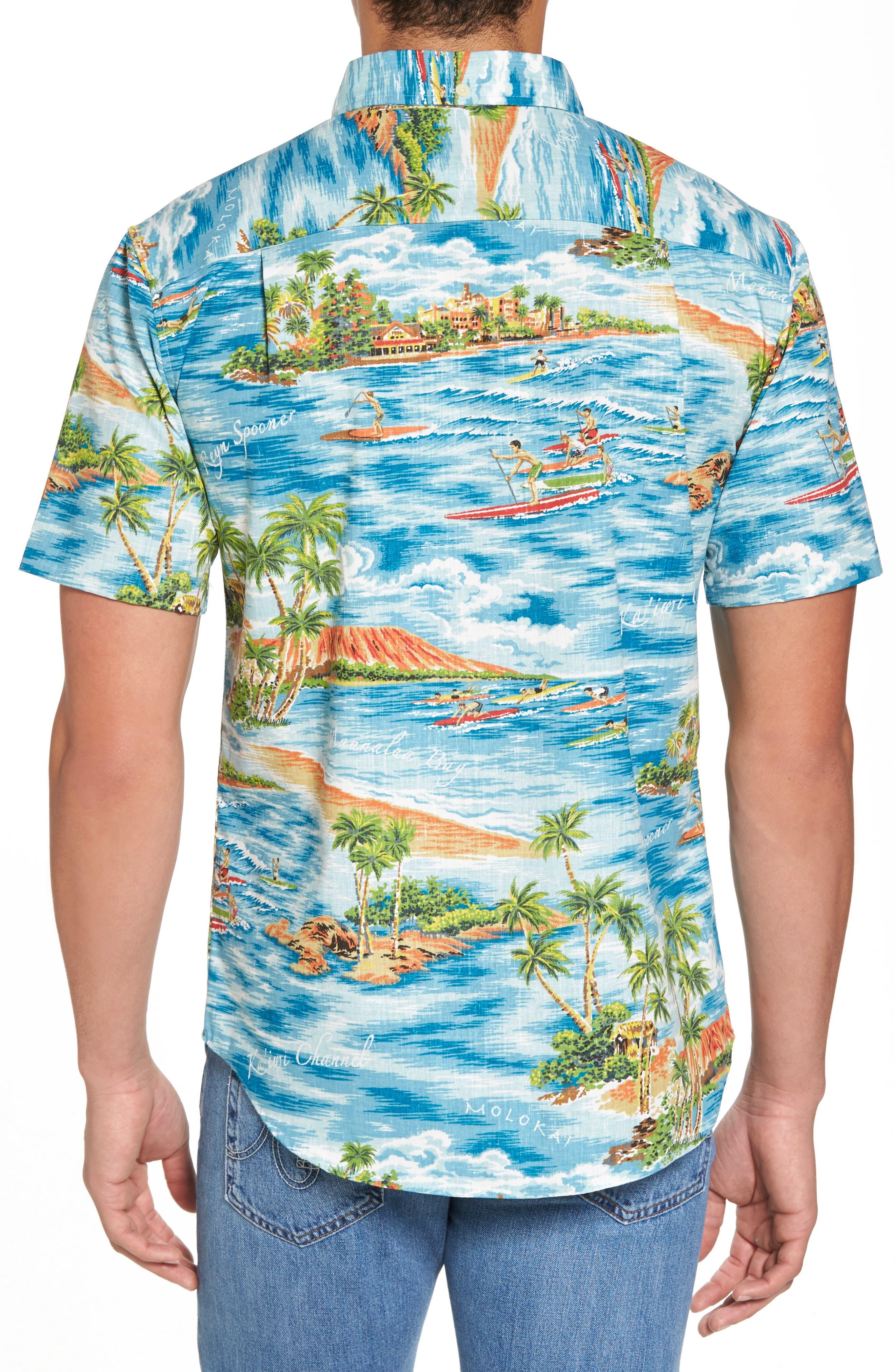 Downward Paddler Tailored Fit Sport Shirt,                             Alternate thumbnail 2, color,                             470
