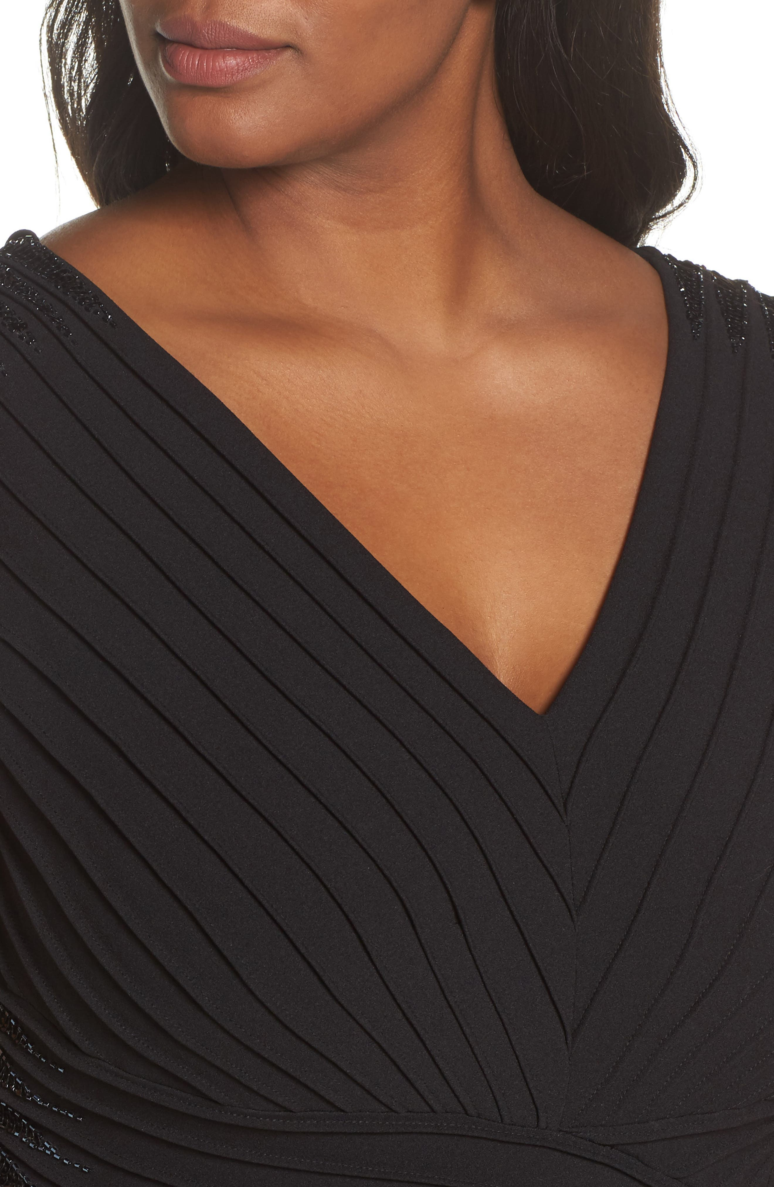 Embellsihed Pintucked A-Line Gown,                             Alternate thumbnail 4, color,