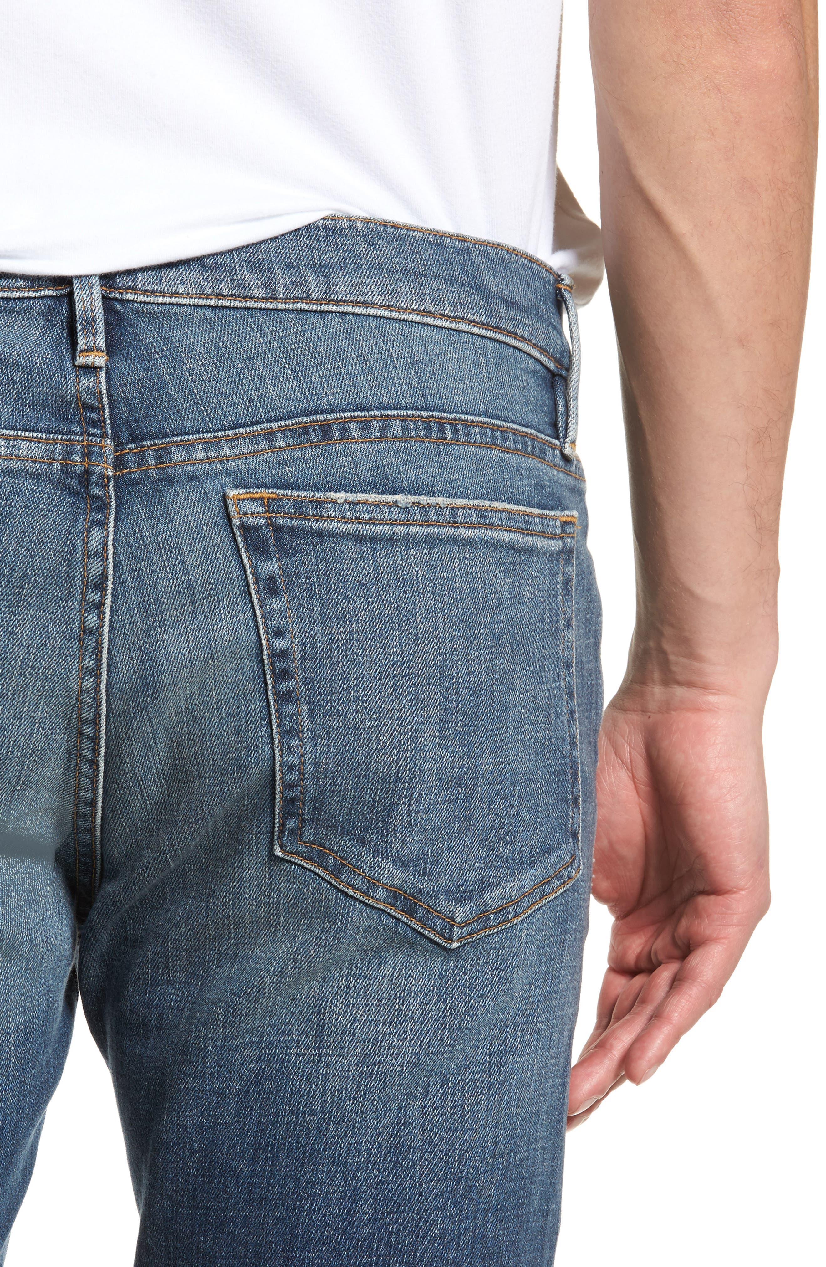 L'Homme Skinny Fit Jeans,                             Alternate thumbnail 4, color,                             405