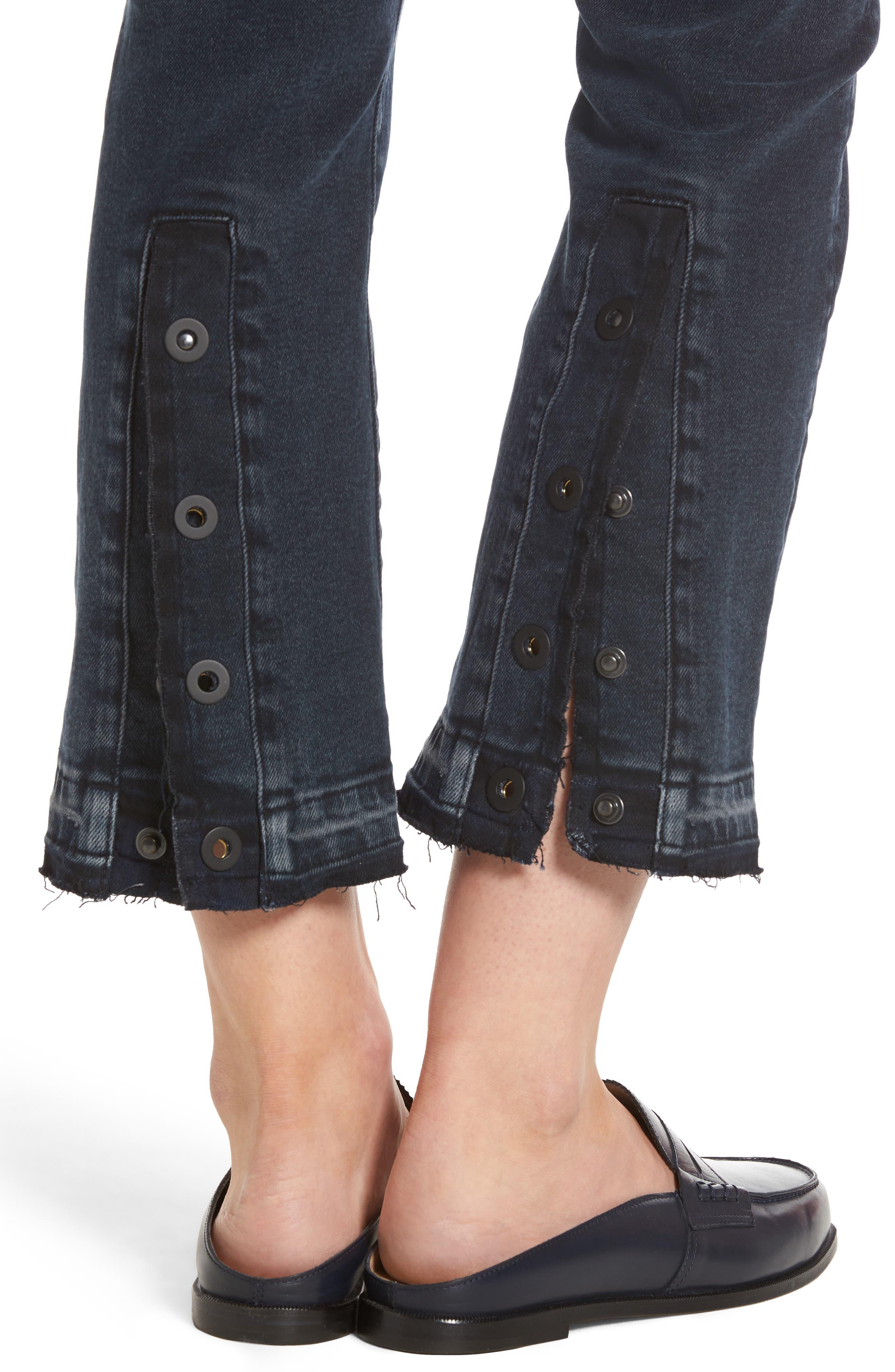Mara Ankle Snap Straight Leg Jeans,                             Alternate thumbnail 4, color,                             416