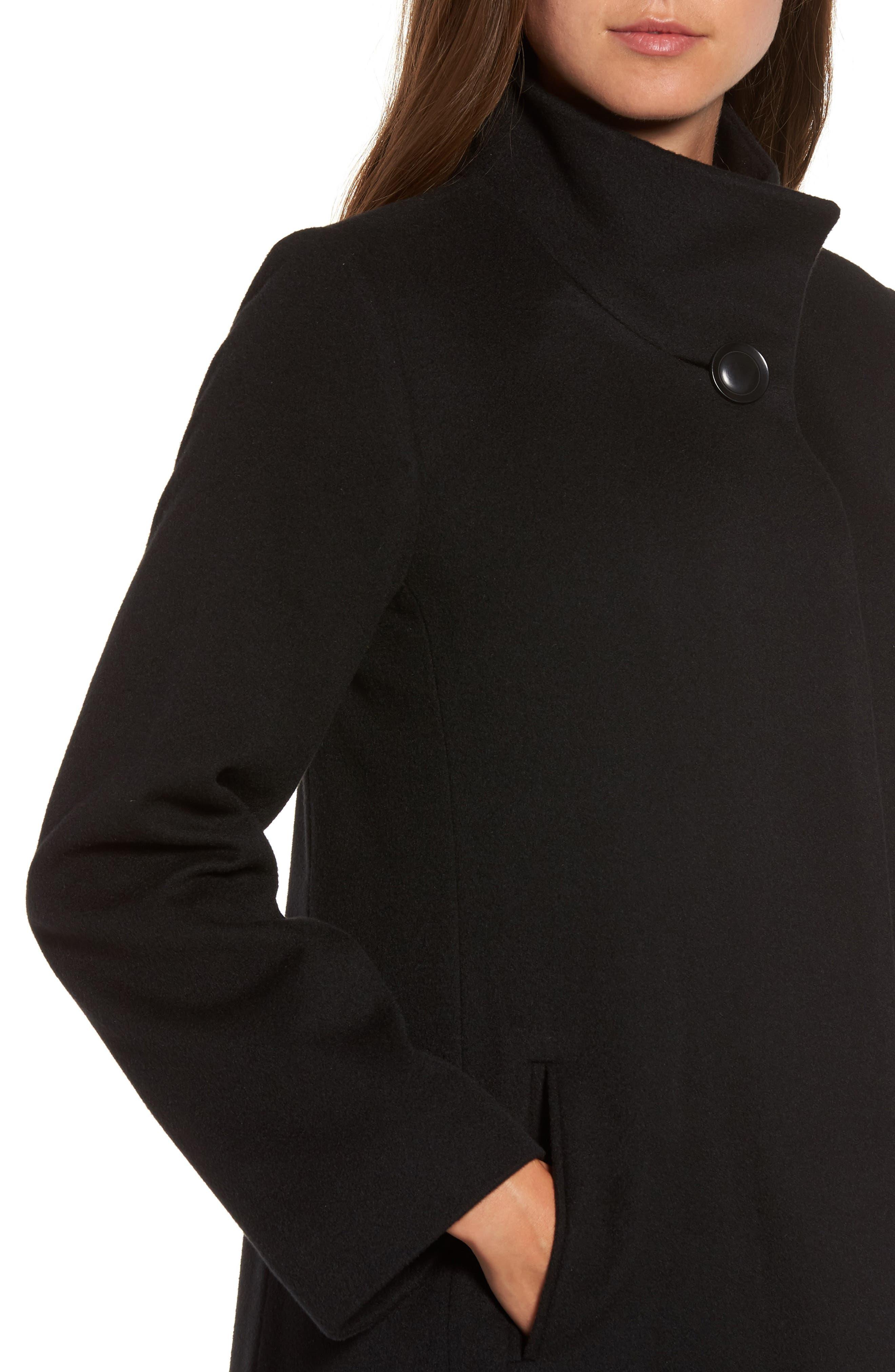 Cashmere Long Coat,                             Alternate thumbnail 4, color,                             001