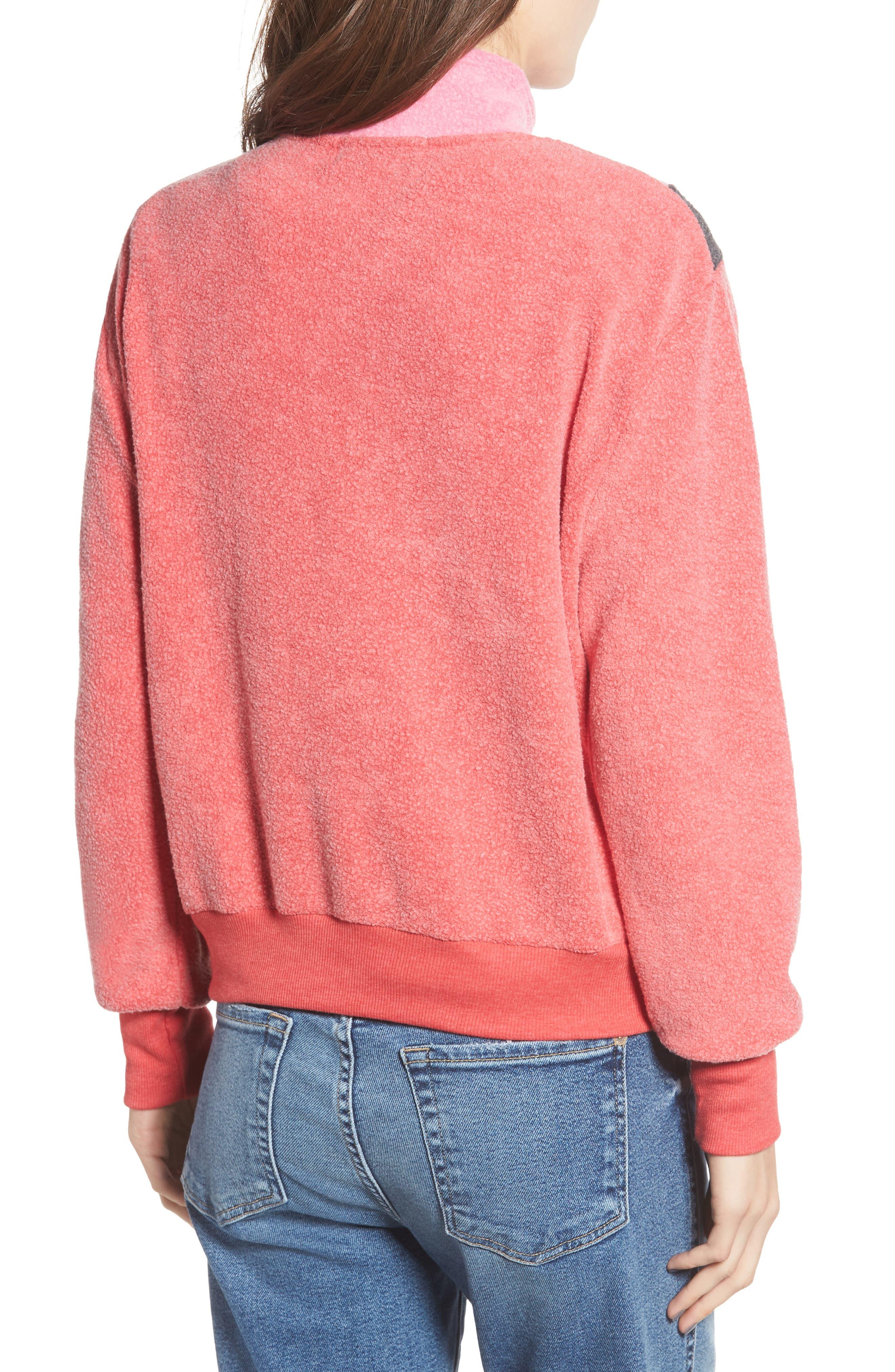 Soto Warm-Up Sweatshirt,                             Alternate thumbnail 2, color,                             SCARLET