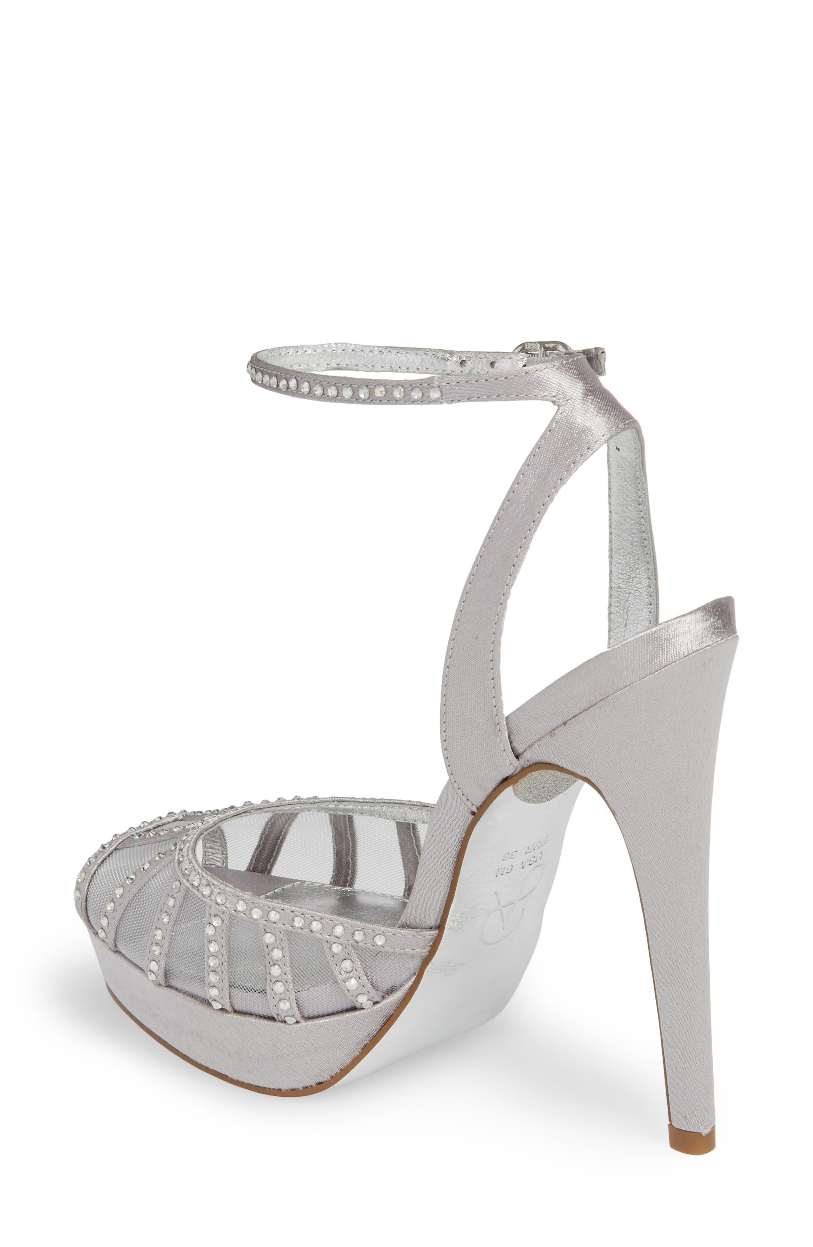 Simone Crystal Embellished Platform Sandal,                             Alternate thumbnail 6, color,