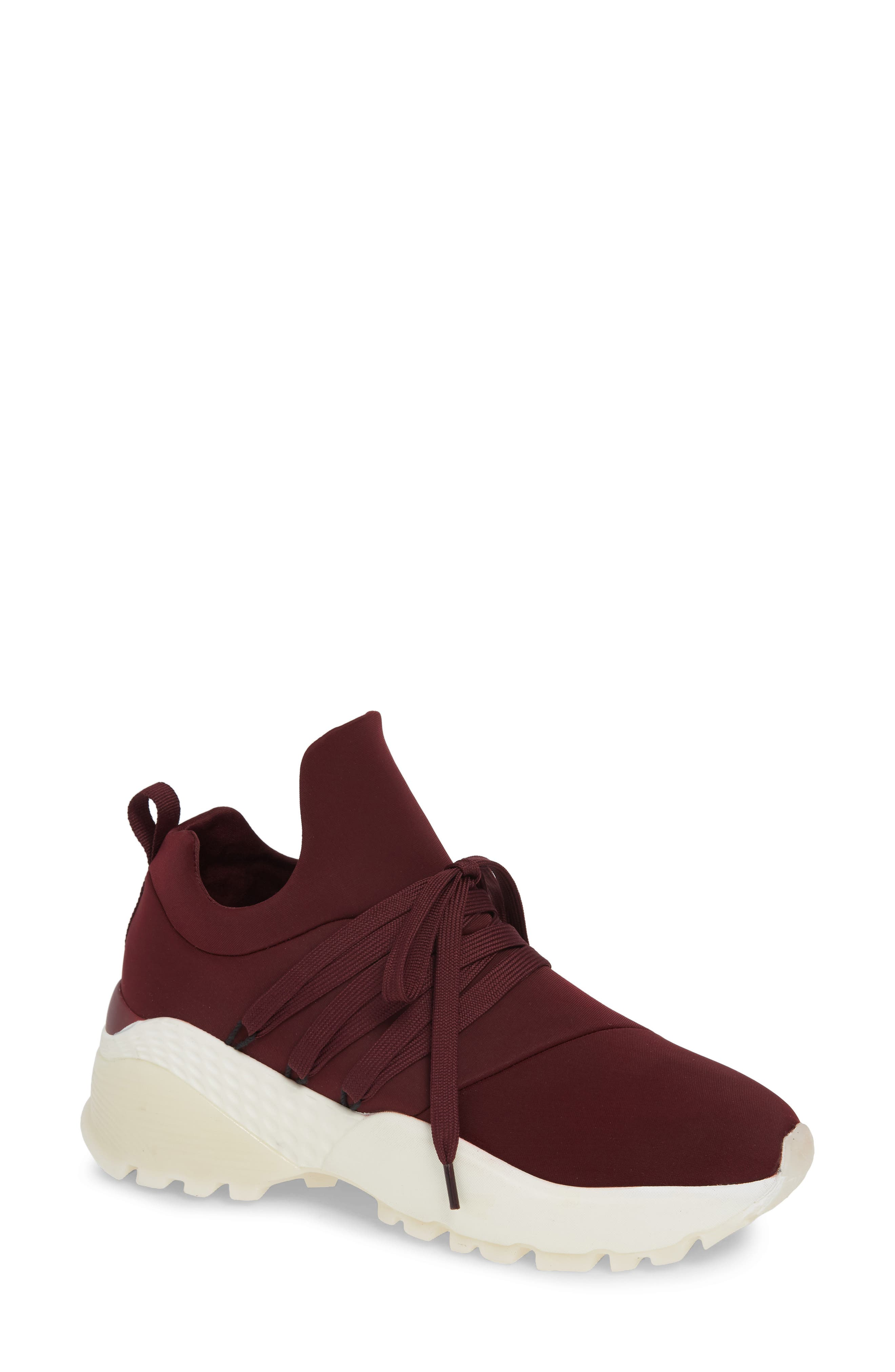 JSLIDES Morrow Slip-On Sneaker in Burgundy Fabric