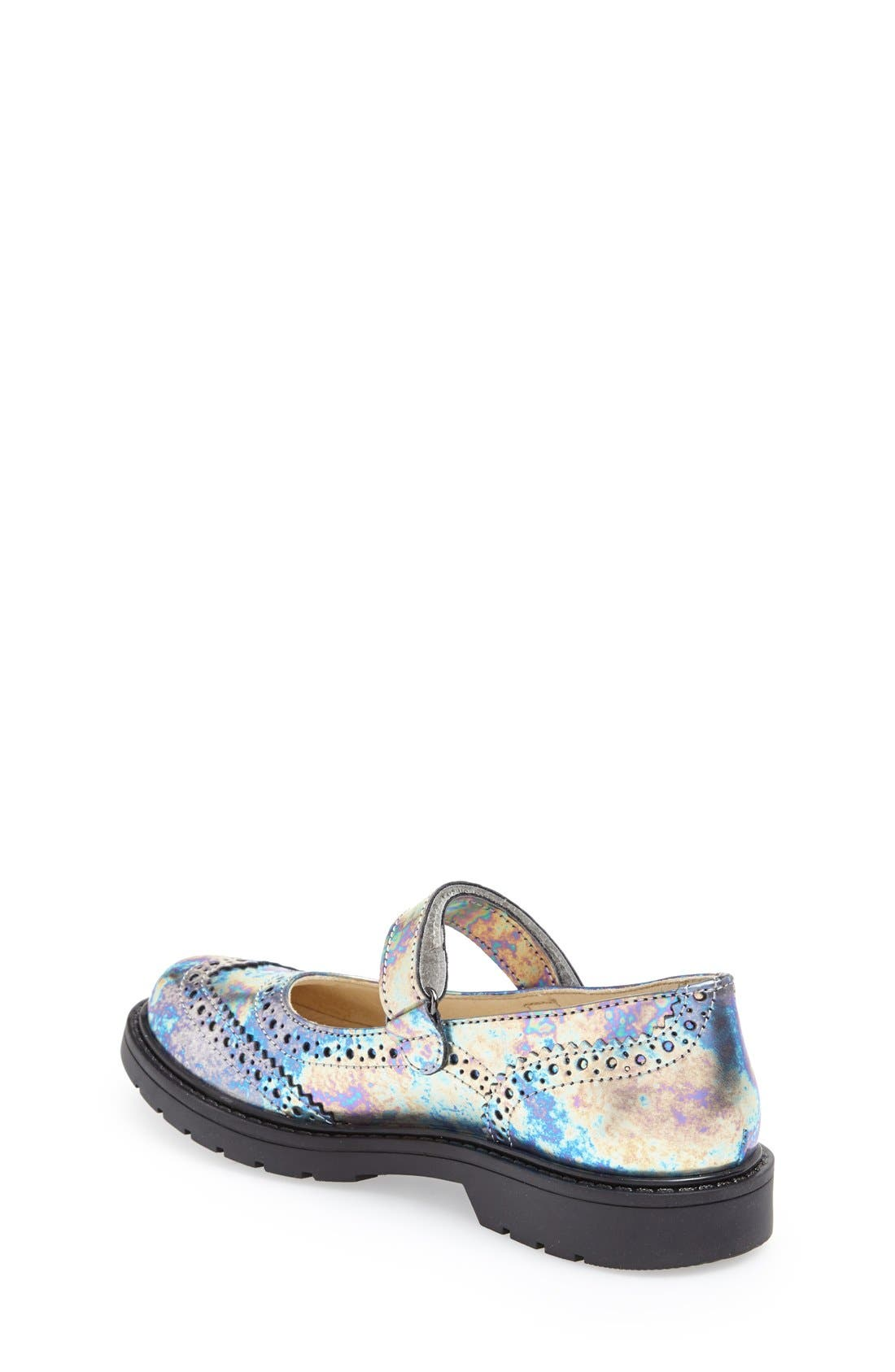 '4833' Leather Mary Jane Flat,                             Alternate thumbnail 3, color,                             040