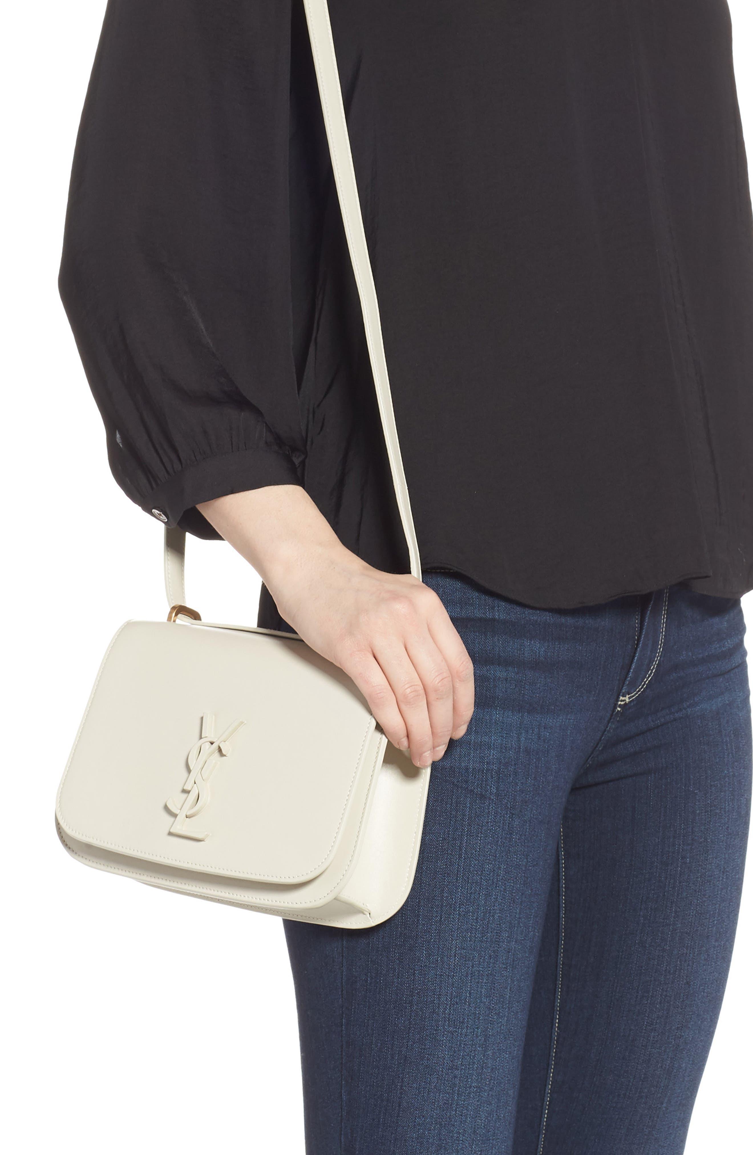 Spontini Calfskin Leather Shoulder Bag,                             Alternate thumbnail 2, color,                             CREMASOFT