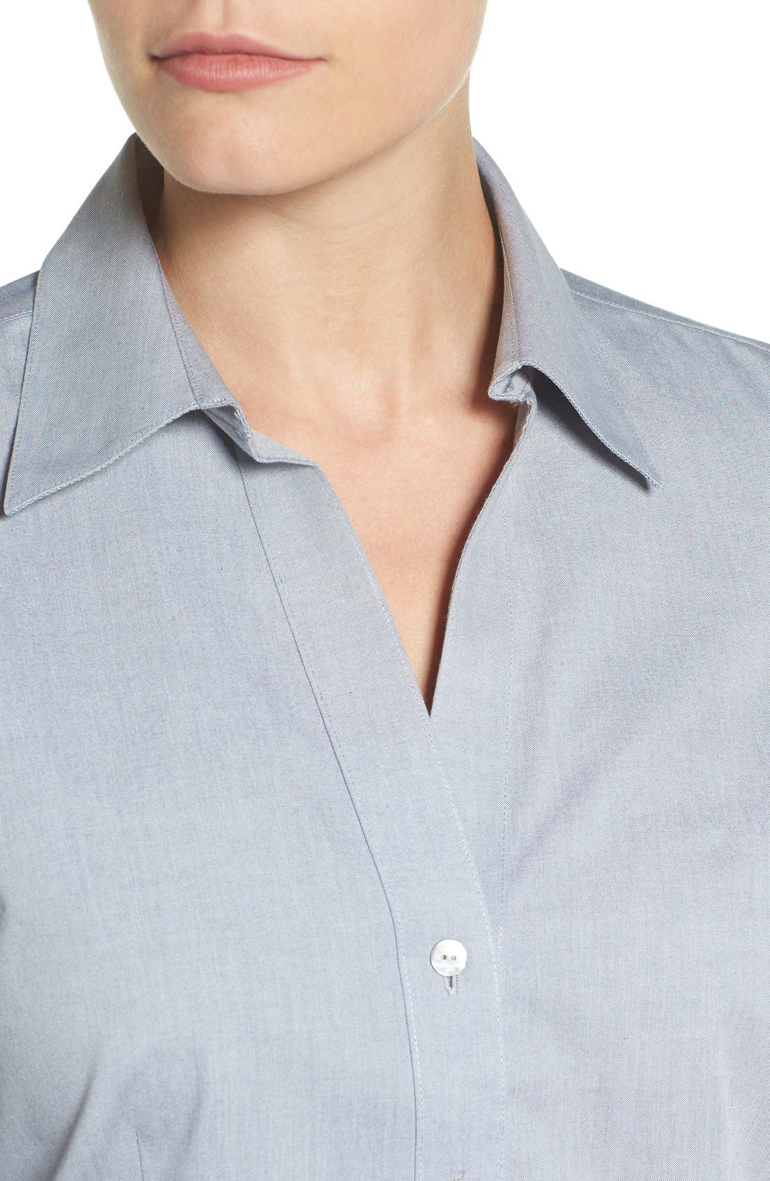 Non-Iron Fitted Shirt,                             Alternate thumbnail 16, color,