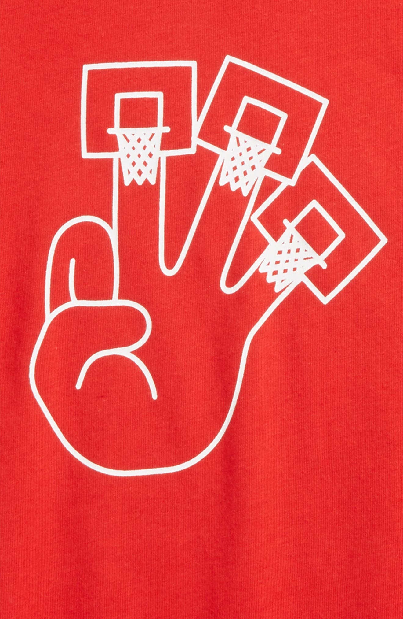 Dry 3Hoops Graphic T-Shirt,                             Alternate thumbnail 8, color,