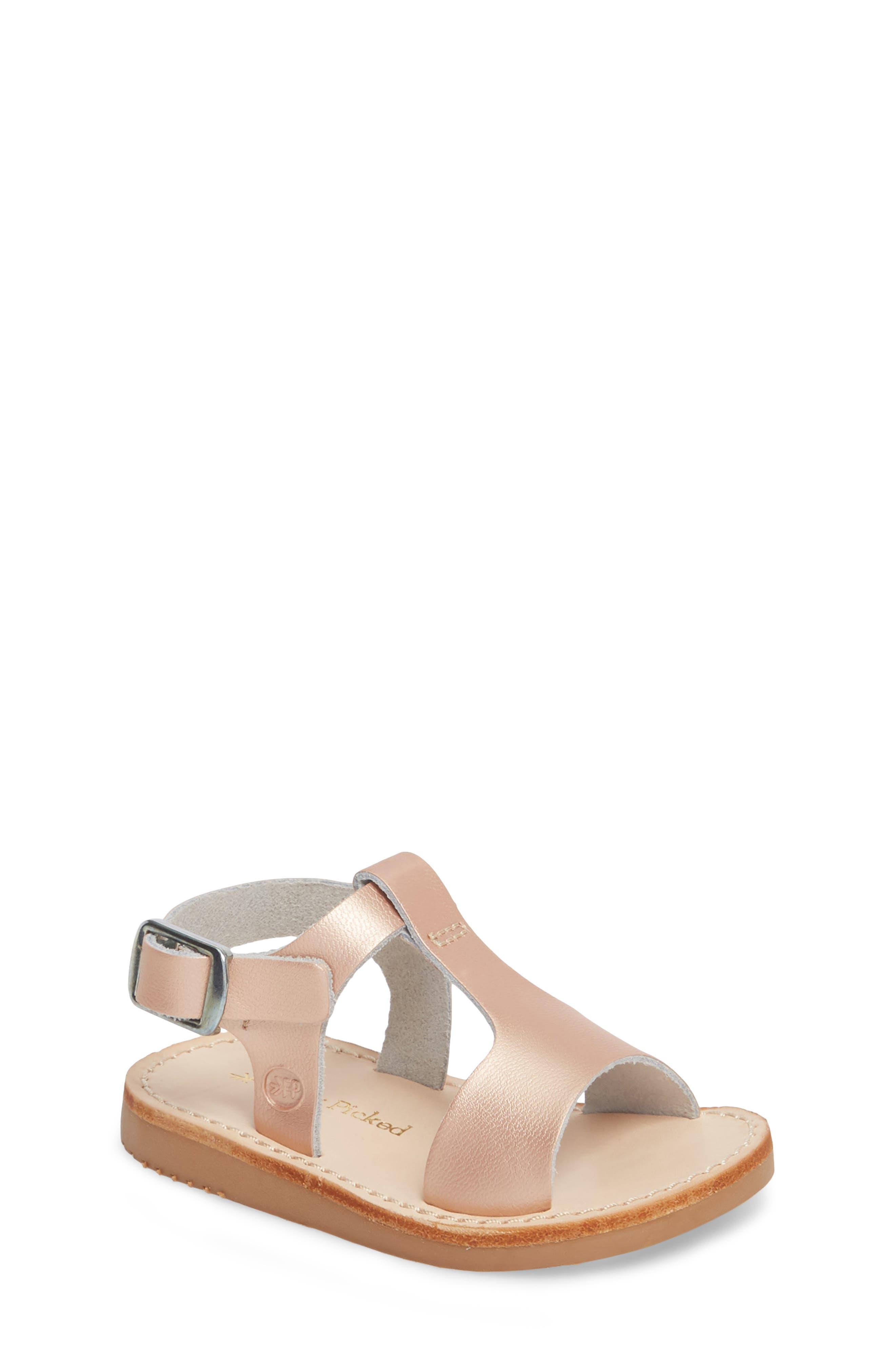 Malibu Water Resistant Sandal,                         Main,                         color, ROSE GOLD