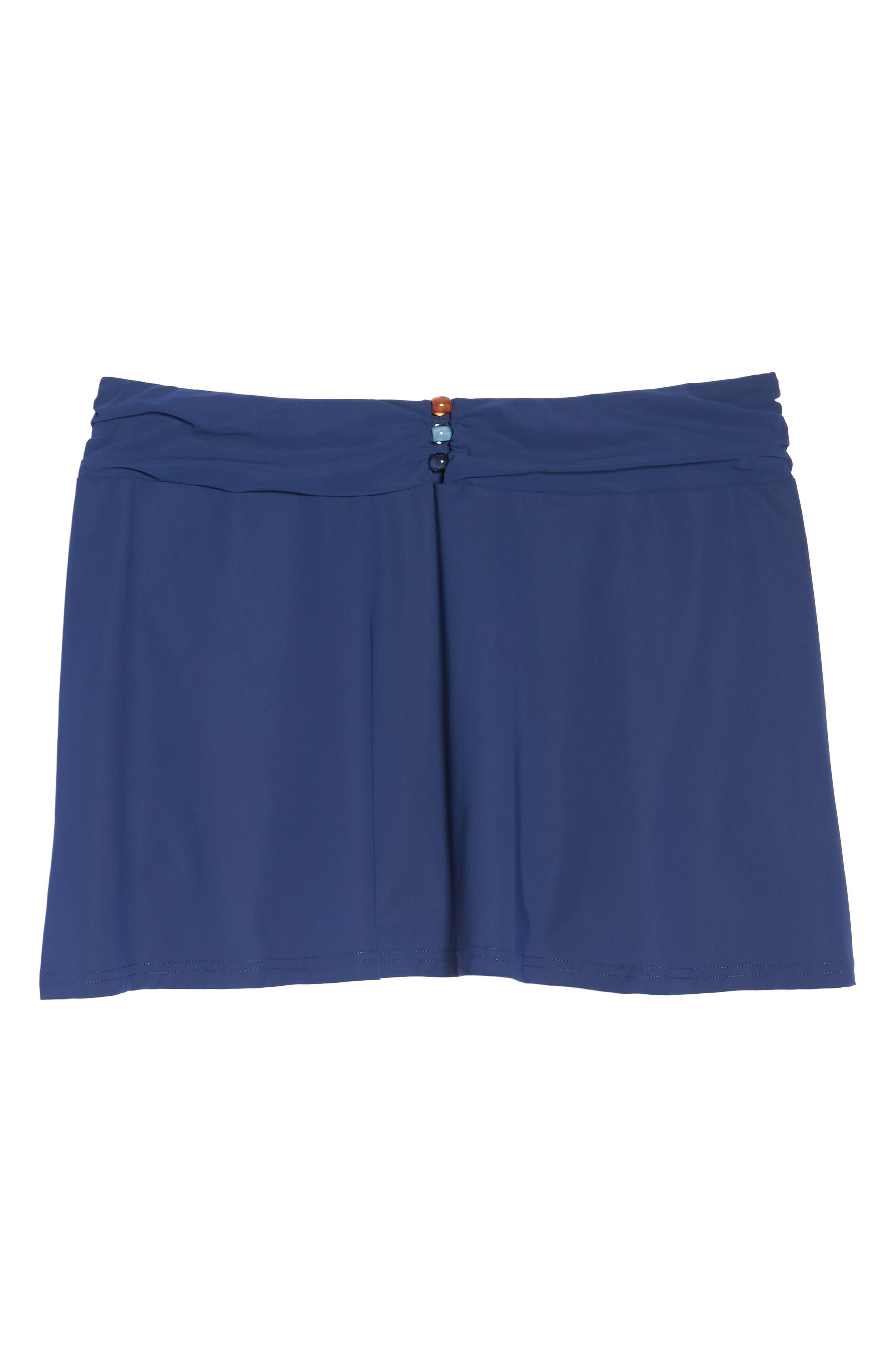 Beaded Cover-Up Skirt,                             Alternate thumbnail 6, color,                             PETROL