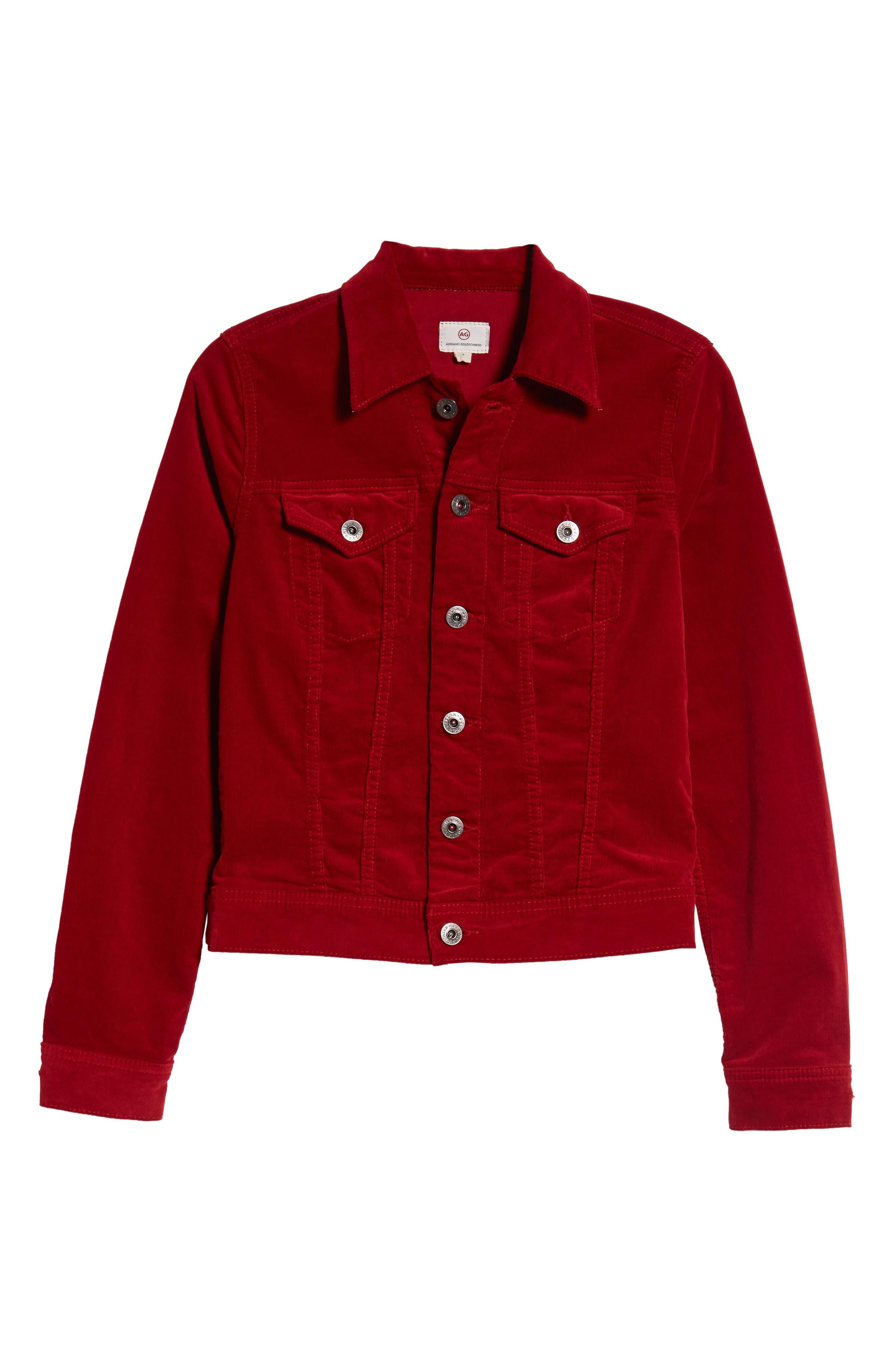 Robyn Corduroy Jacket,                             Alternate thumbnail 6, color,                             RED AMARYLLIS