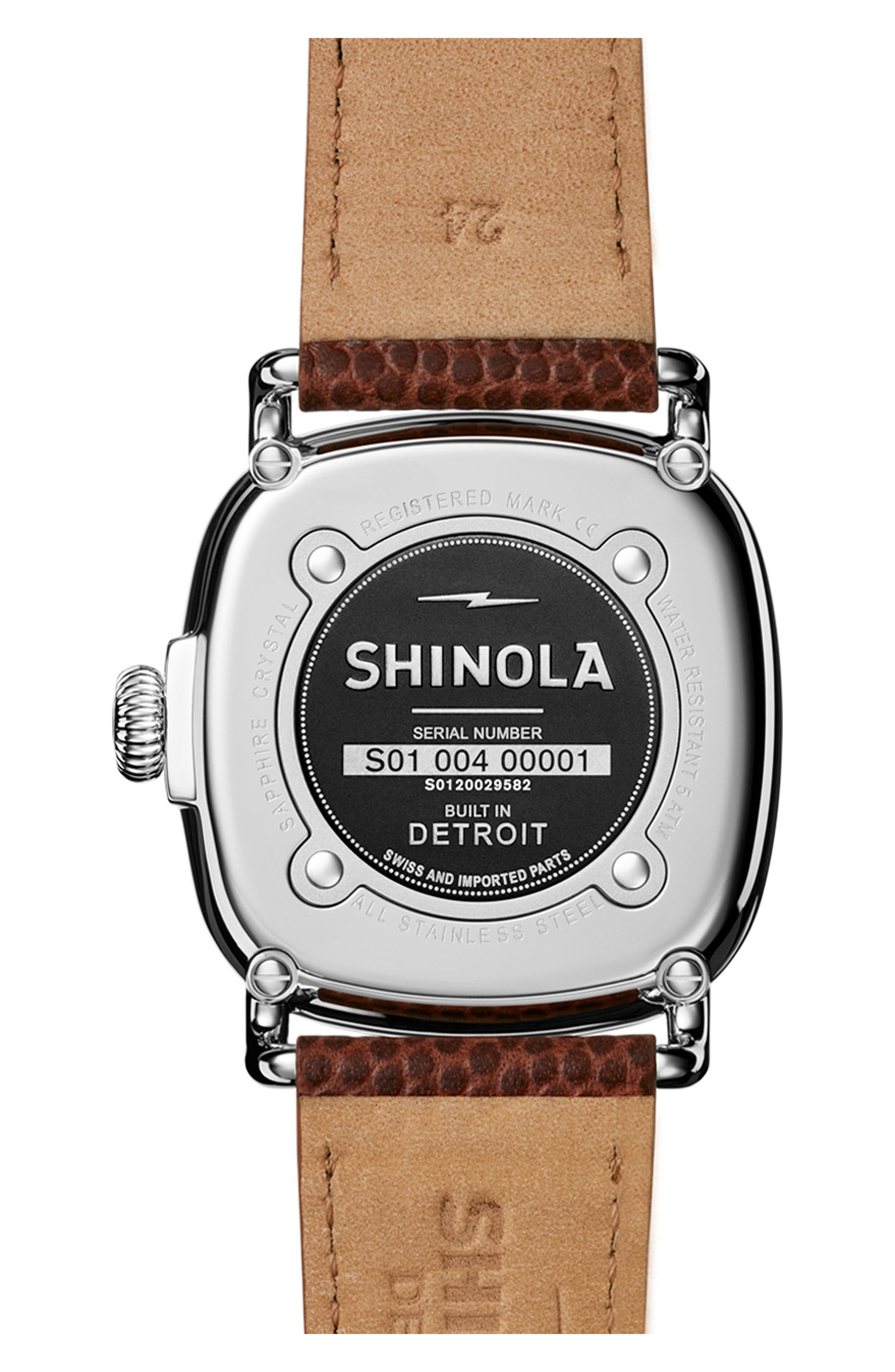The Guardian Leather Strap Watch, 41mm,                             Alternate thumbnail 2, color,                             200