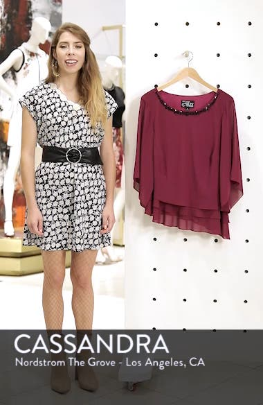 Embellished Tiered Chiffon Top, sales video thumbnail