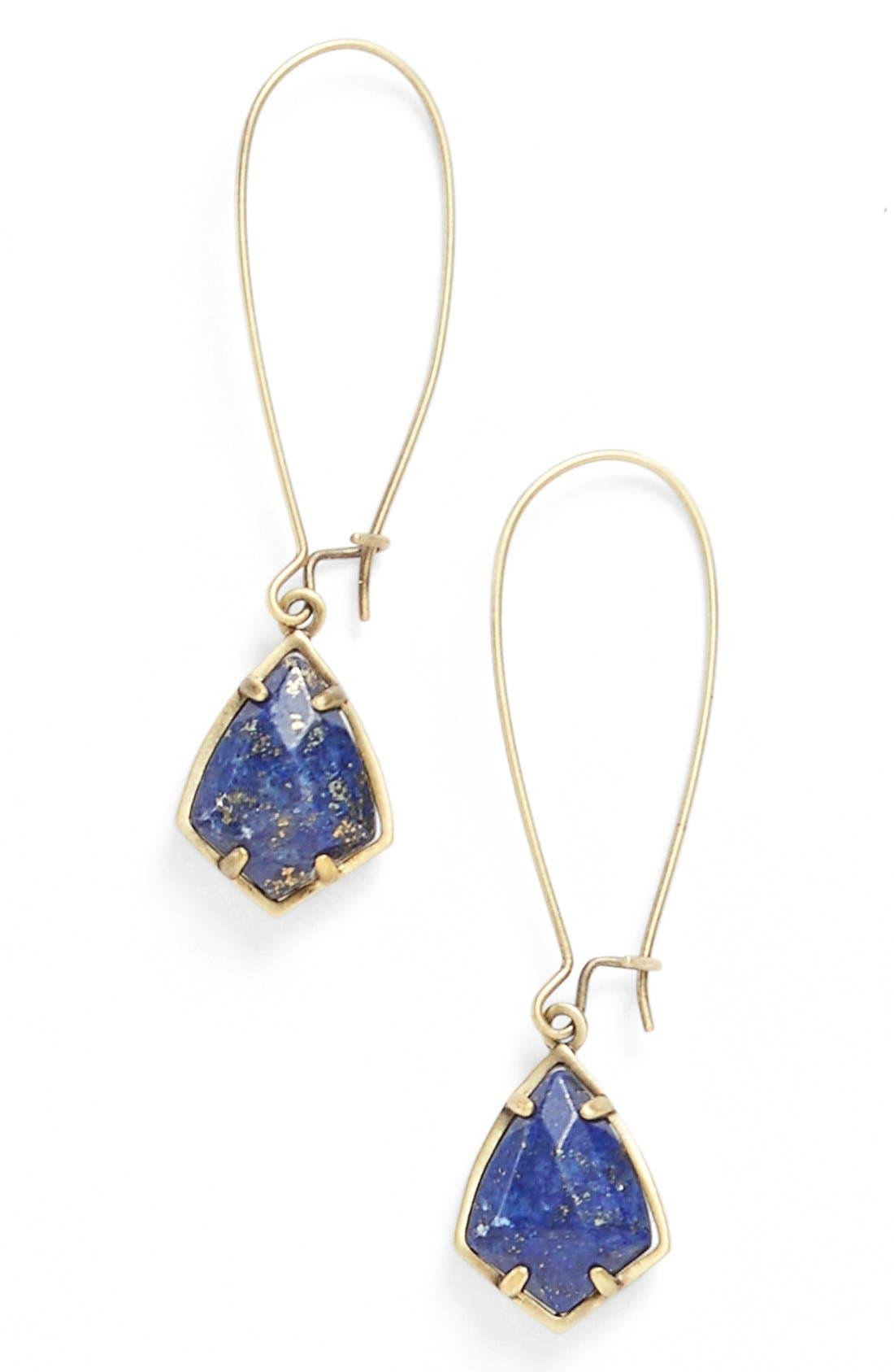 'Carrine' Semiprecious Stone Drop Earrings,                             Main thumbnail 6, color,