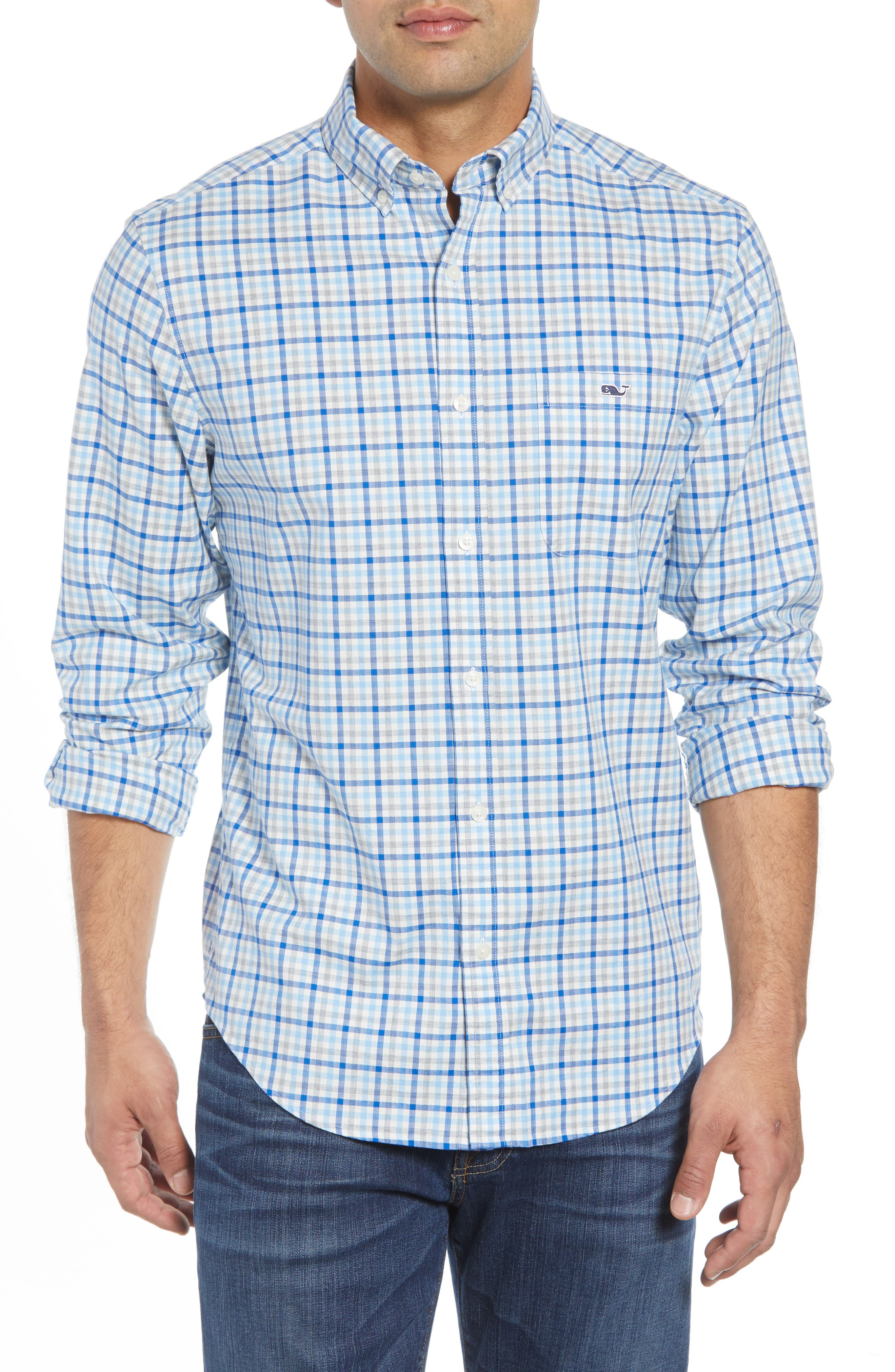 Pondview Regular Fit Check Sport Shirt,                             Main thumbnail 1, color,                             484