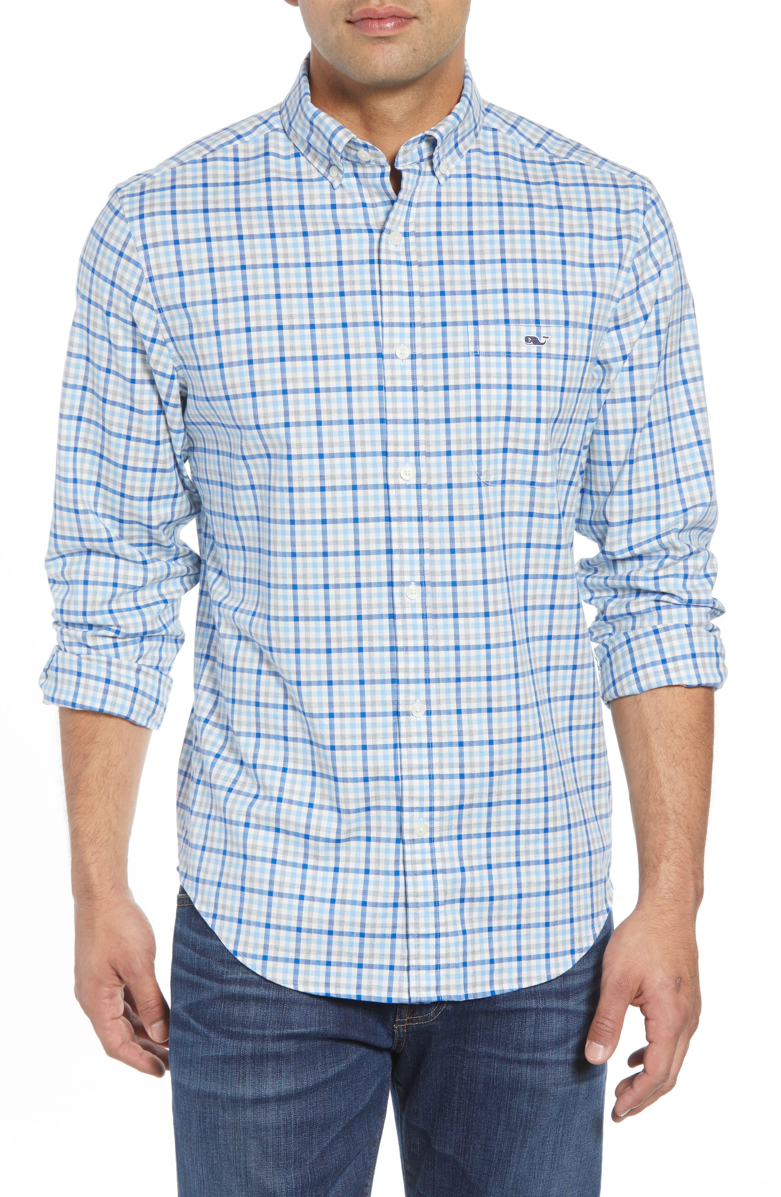 Pondview Regular Fit Check Sport Shirt,                         Main,                         color, 484