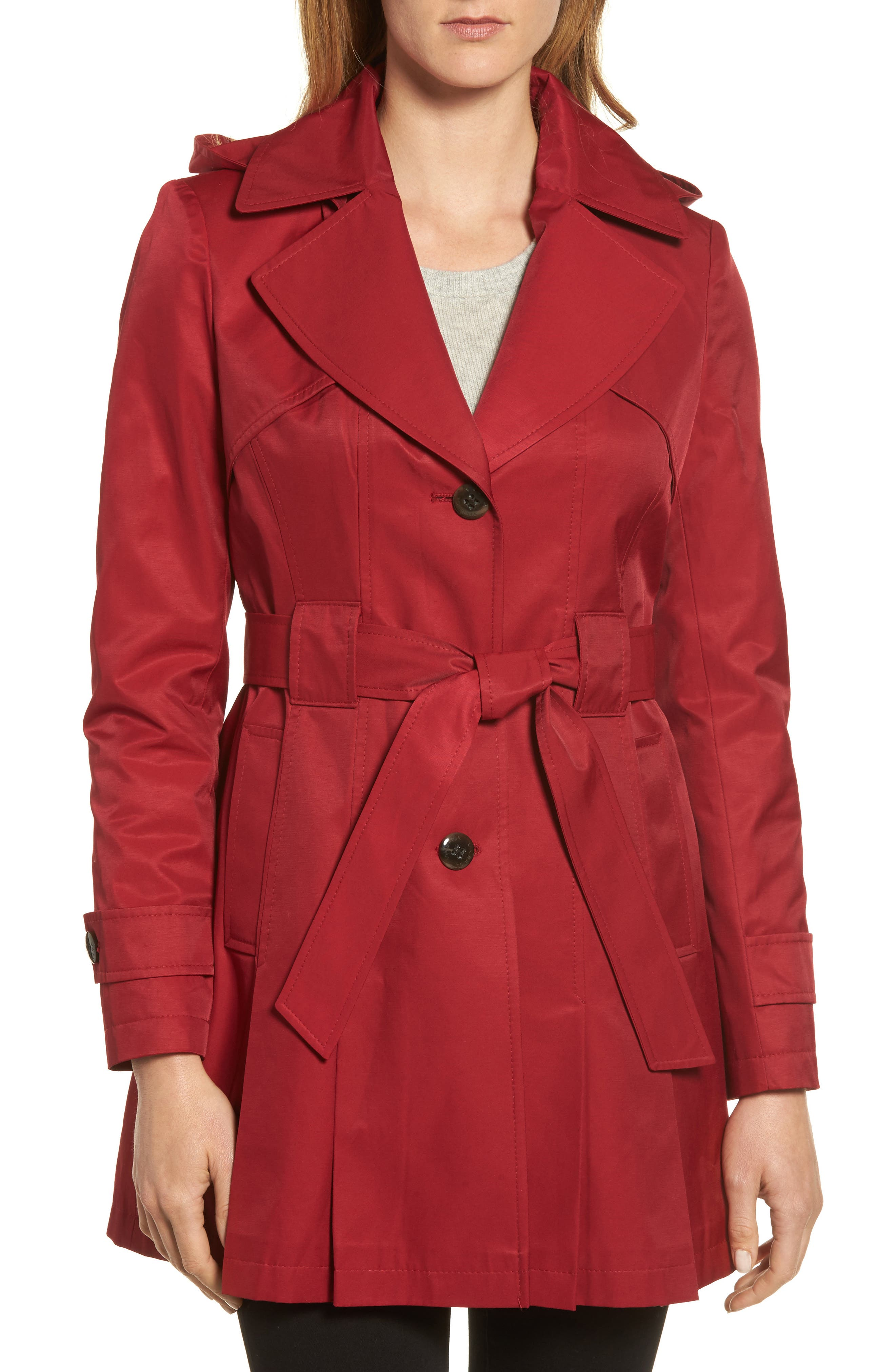 'Scarpa' Hooded Single Breasted Trench Coat,                             Main thumbnail 2, color,
