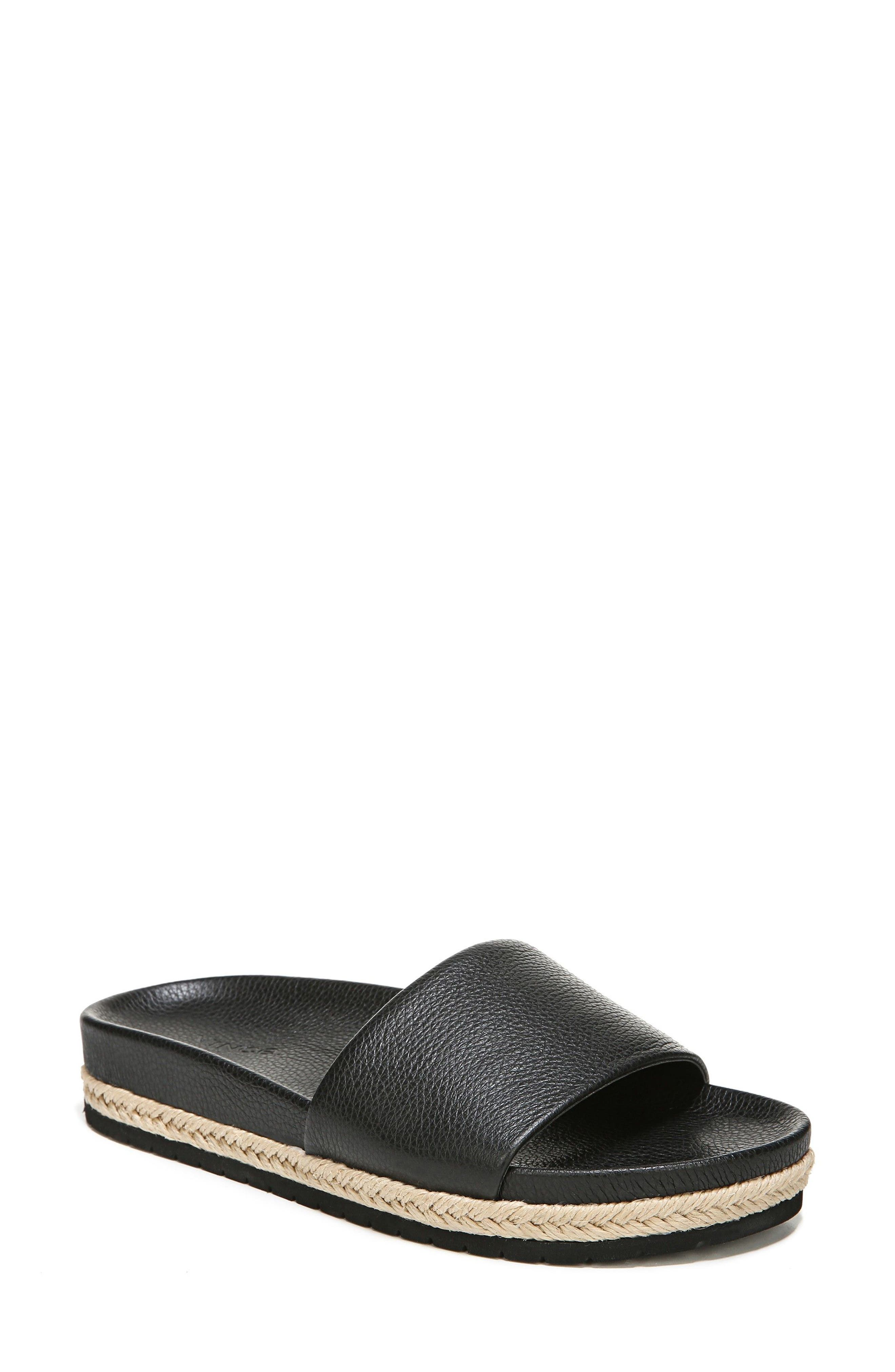 Aurelia Slide Sandal,                             Main thumbnail 1, color,                             001