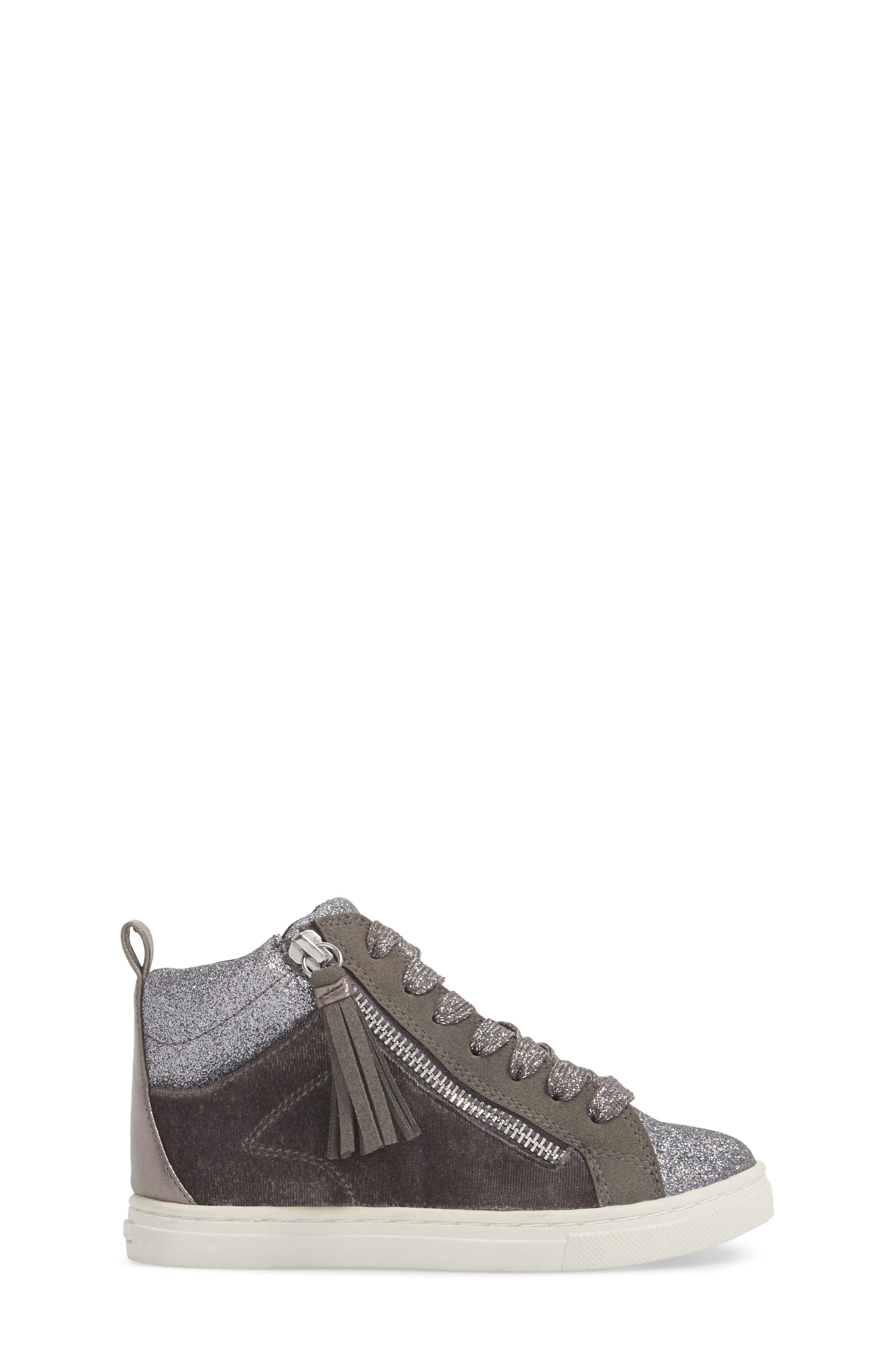 DOLCE VITA,                             Zaila Glitter High Top Sneaker,                             Alternate thumbnail 3, color,                             034