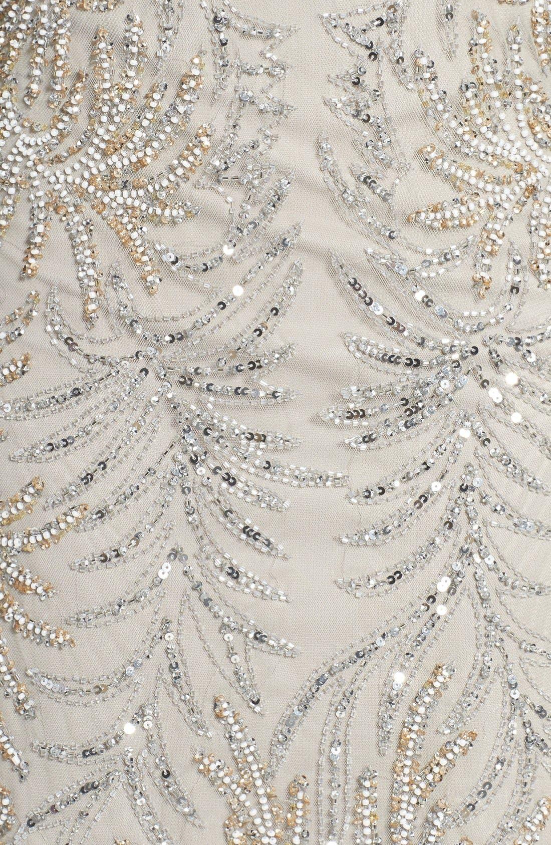 Embellished Mesh Sheath Dress,                             Alternate thumbnail 6, color,                             040
