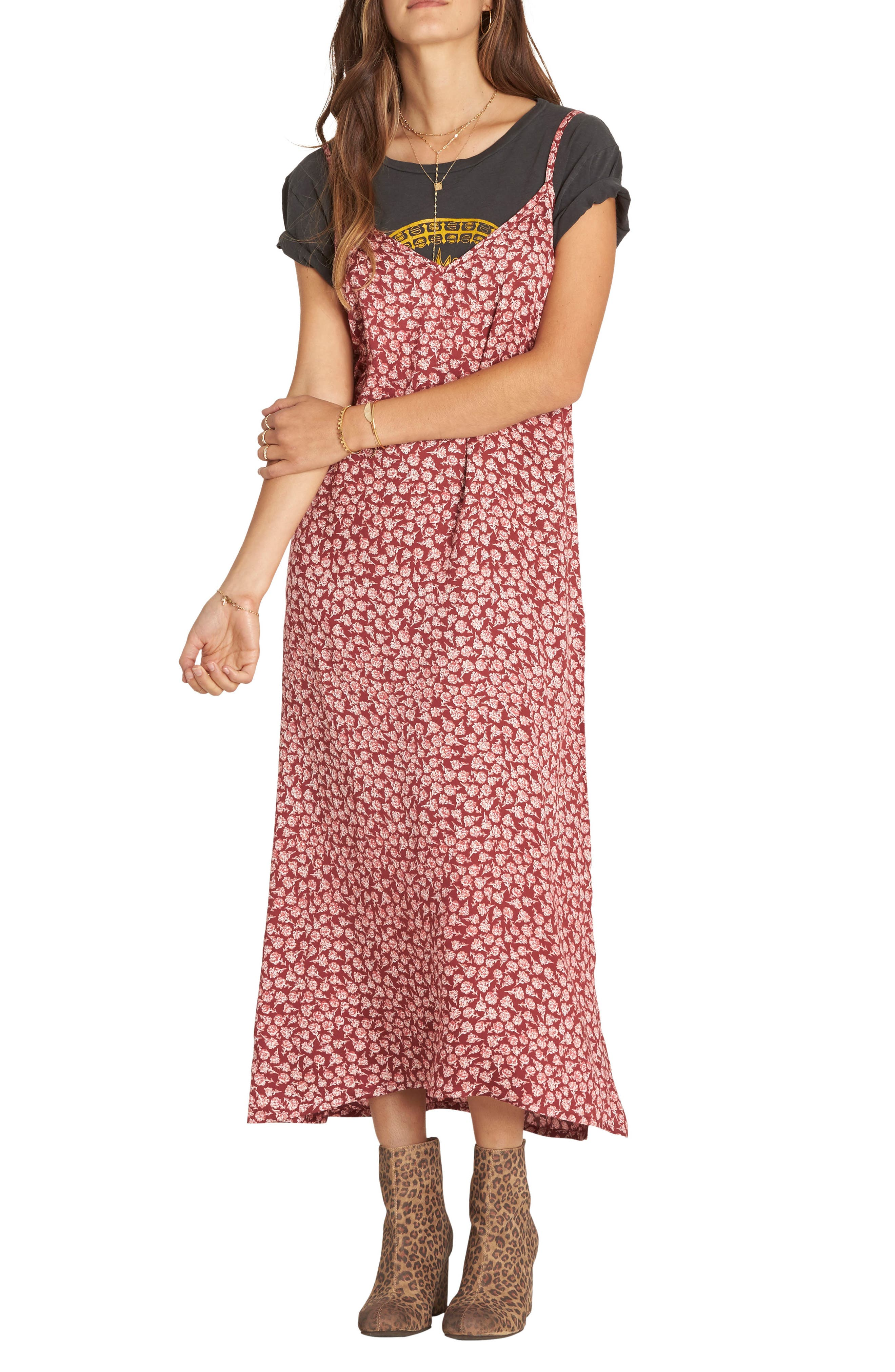 Dreamy Garden Print Dress,                         Main,                         color, 002