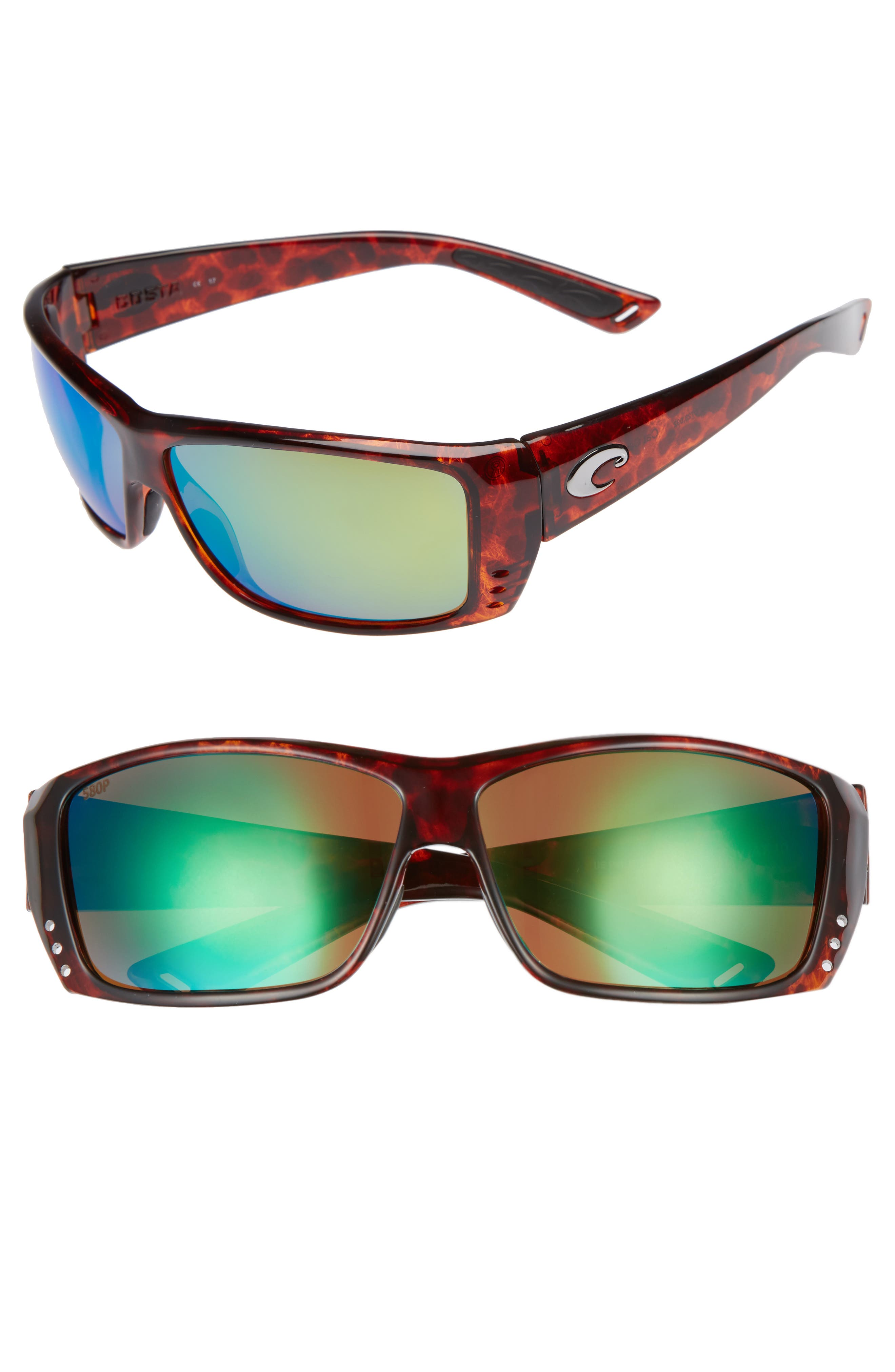 Cat Cay 60mm Polarized Sunglasses,                             Main thumbnail 1, color,
