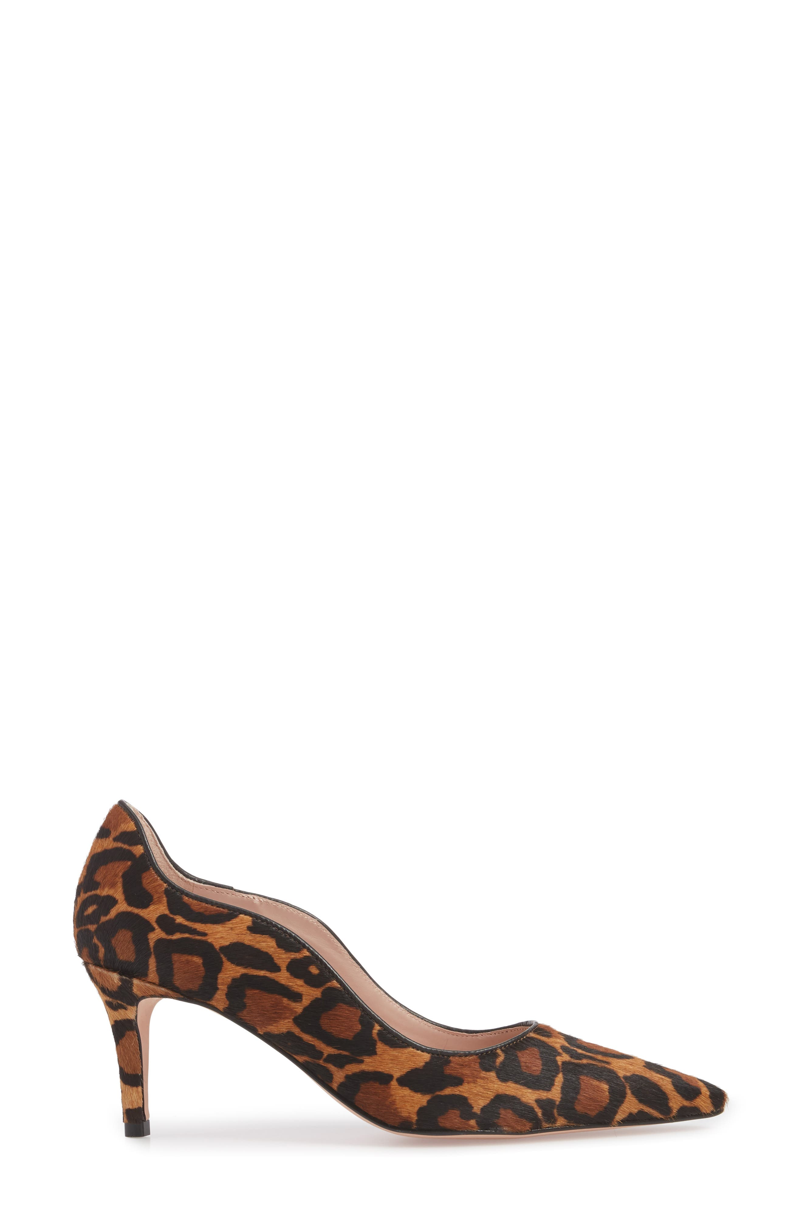 Anika 70 Pump,                             Alternate thumbnail 3, color,                             CAMEL MULTI HAIR CALF