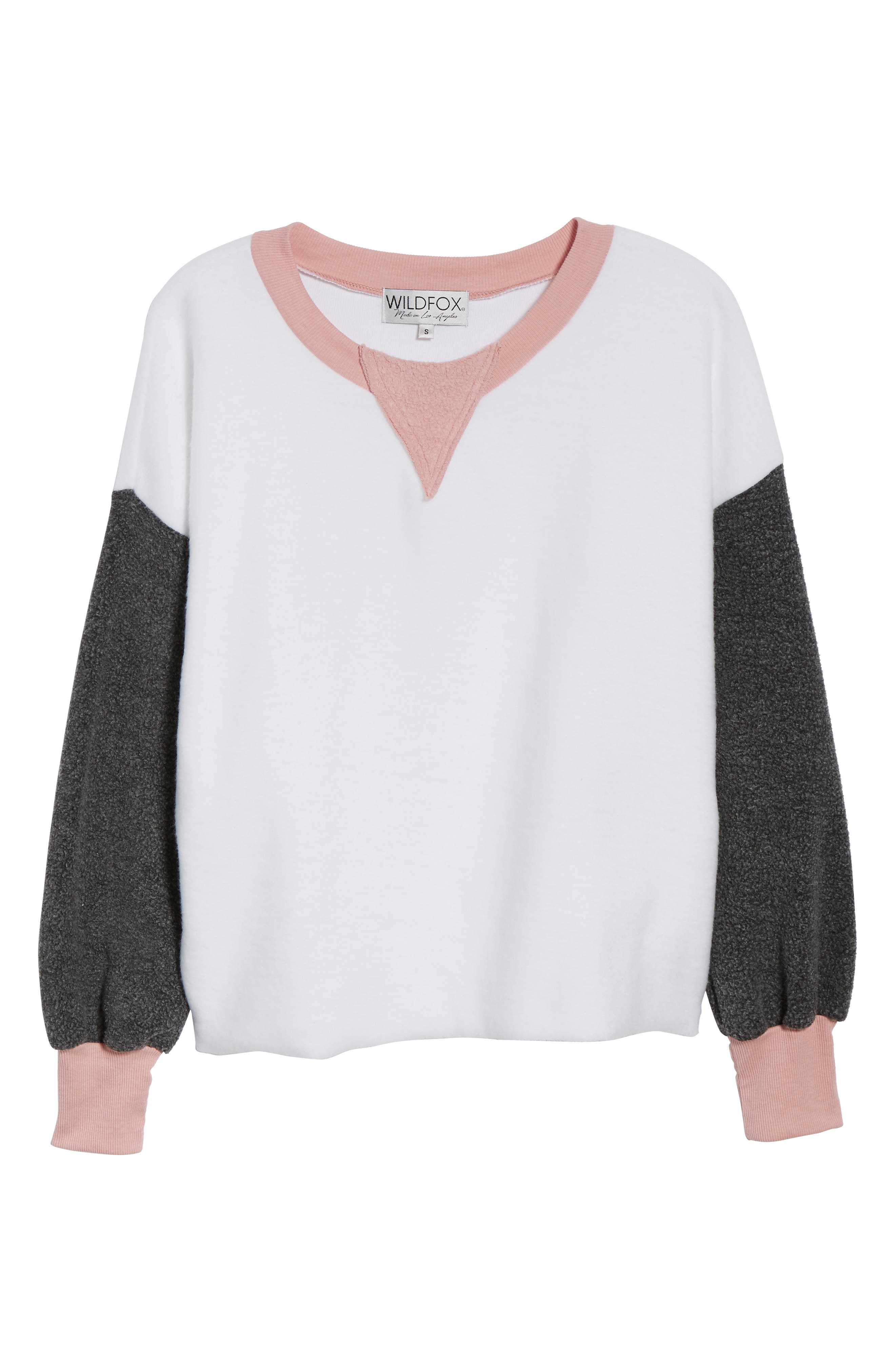 True Love Sweatshirt,                             Alternate thumbnail 6, color,                             CLEAN WHITE MULTI