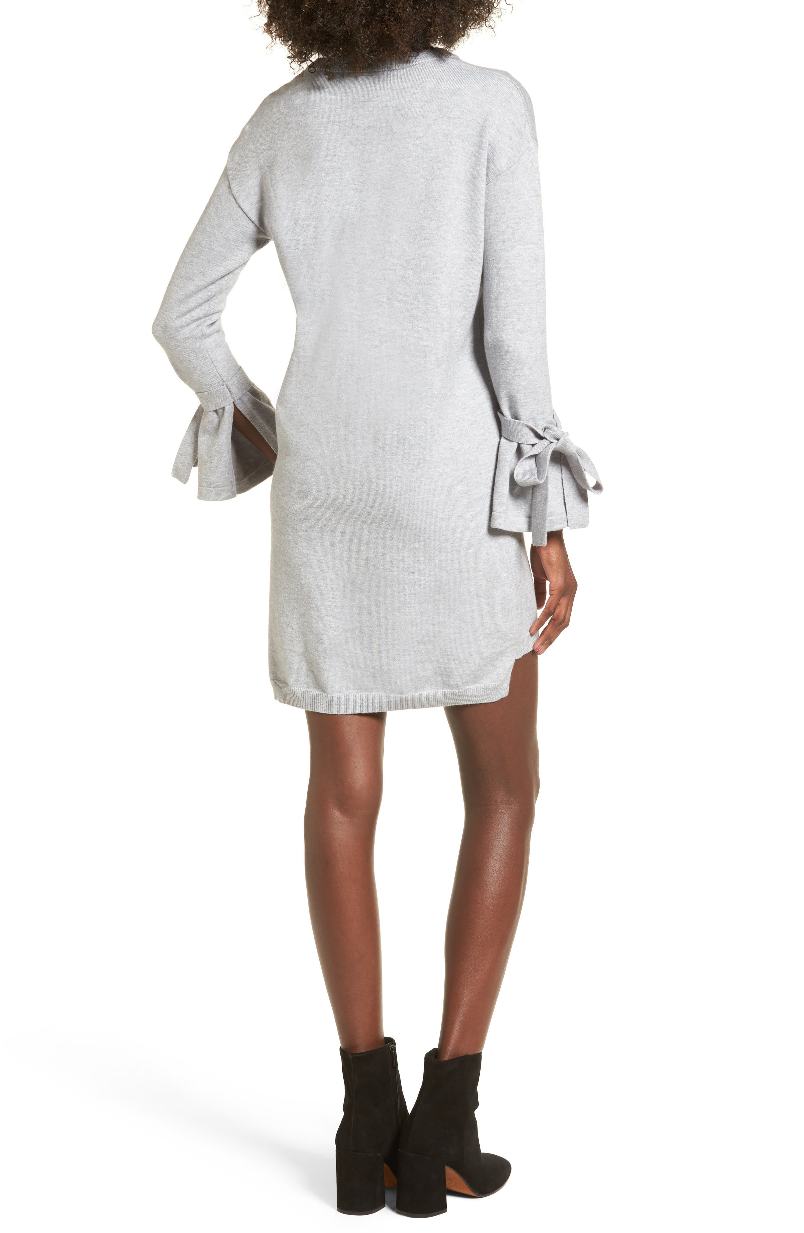 Tie Sleeve Sweater Dress,                             Alternate thumbnail 2, color,                             038