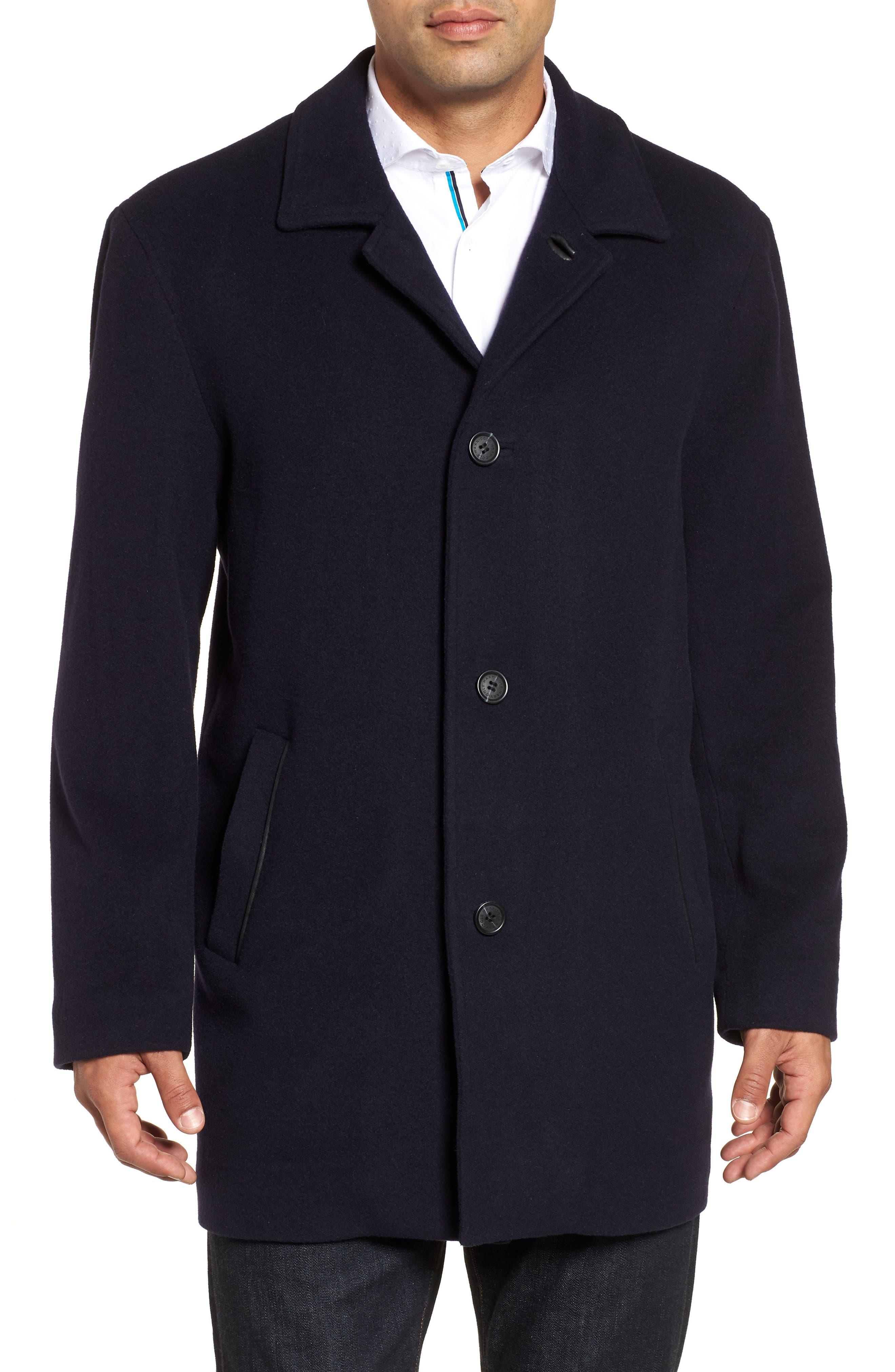 Italian Wool Blend Overcoat,                             Main thumbnail 1, color,