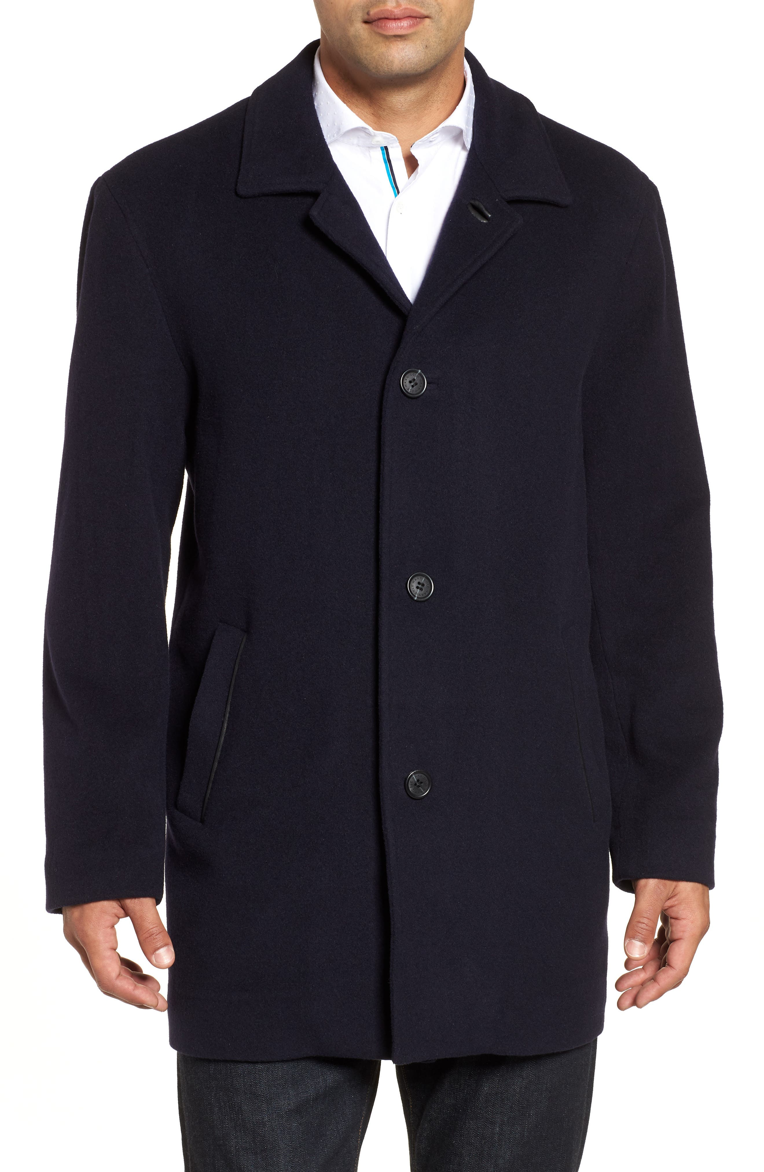 Italian Wool Blend Overcoat,                         Main,                         color,