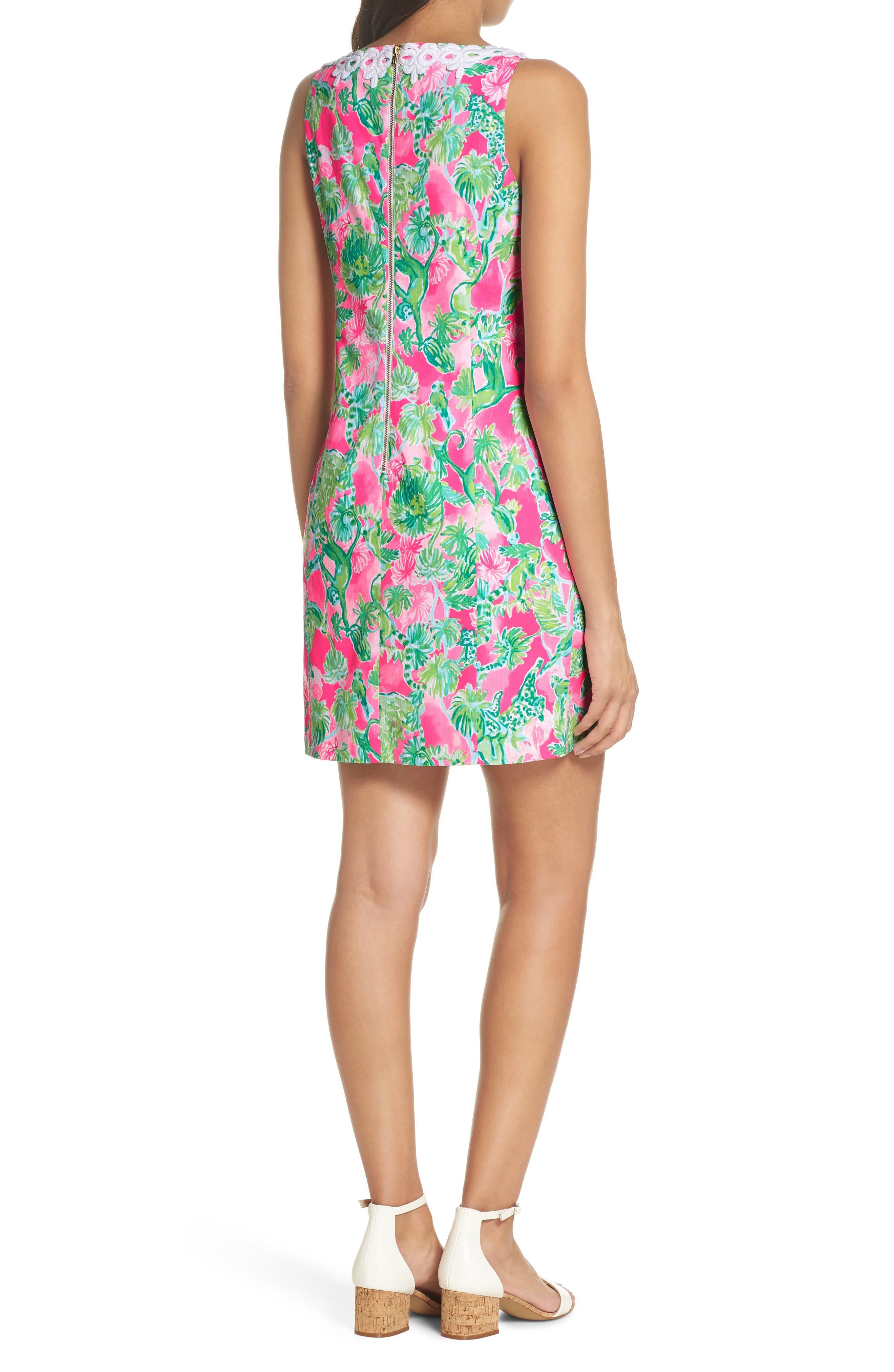 Gabby Tropical Print Dress,                             Alternate thumbnail 2, color,                             RAZ BERRY CATTY SHACK