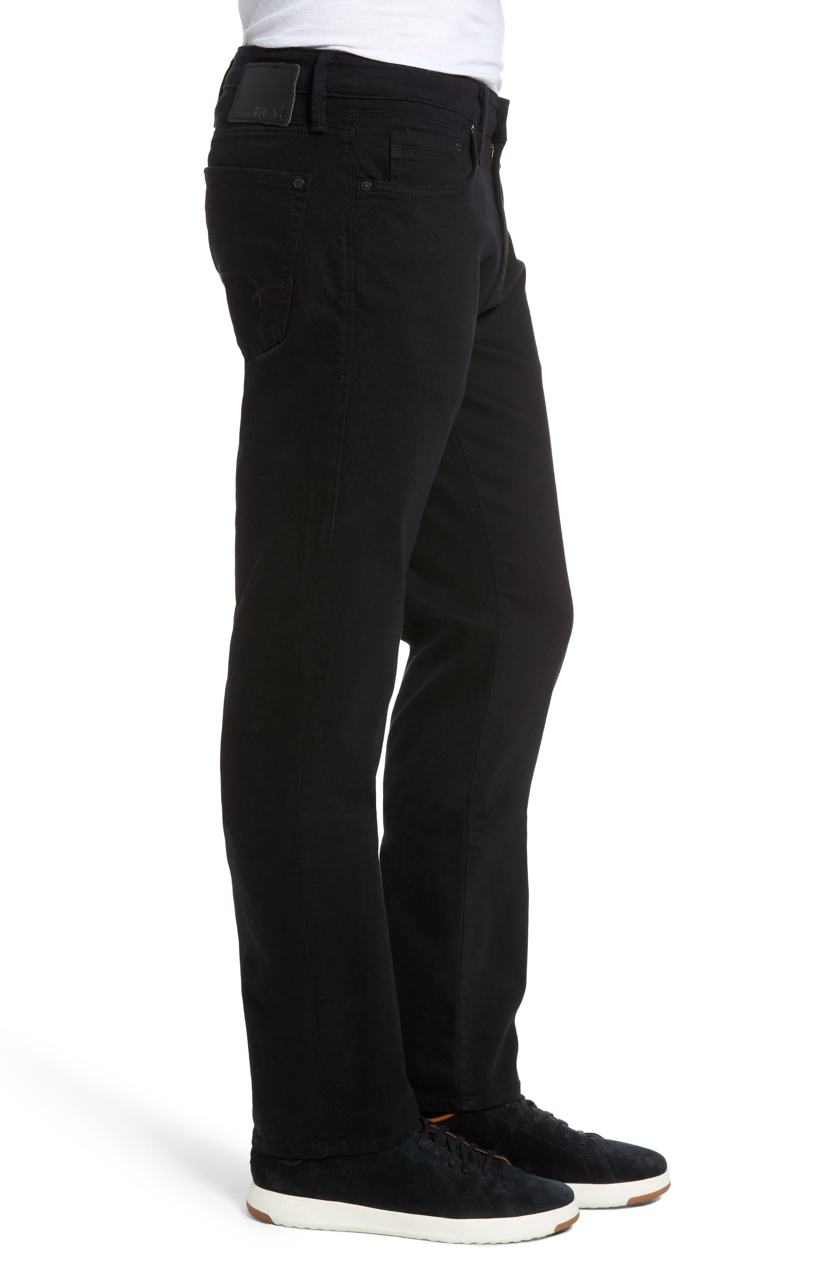 Zach Straight Leg Jeans,                             Alternate thumbnail 3, color,                             BLACK WILLIAMSBURG