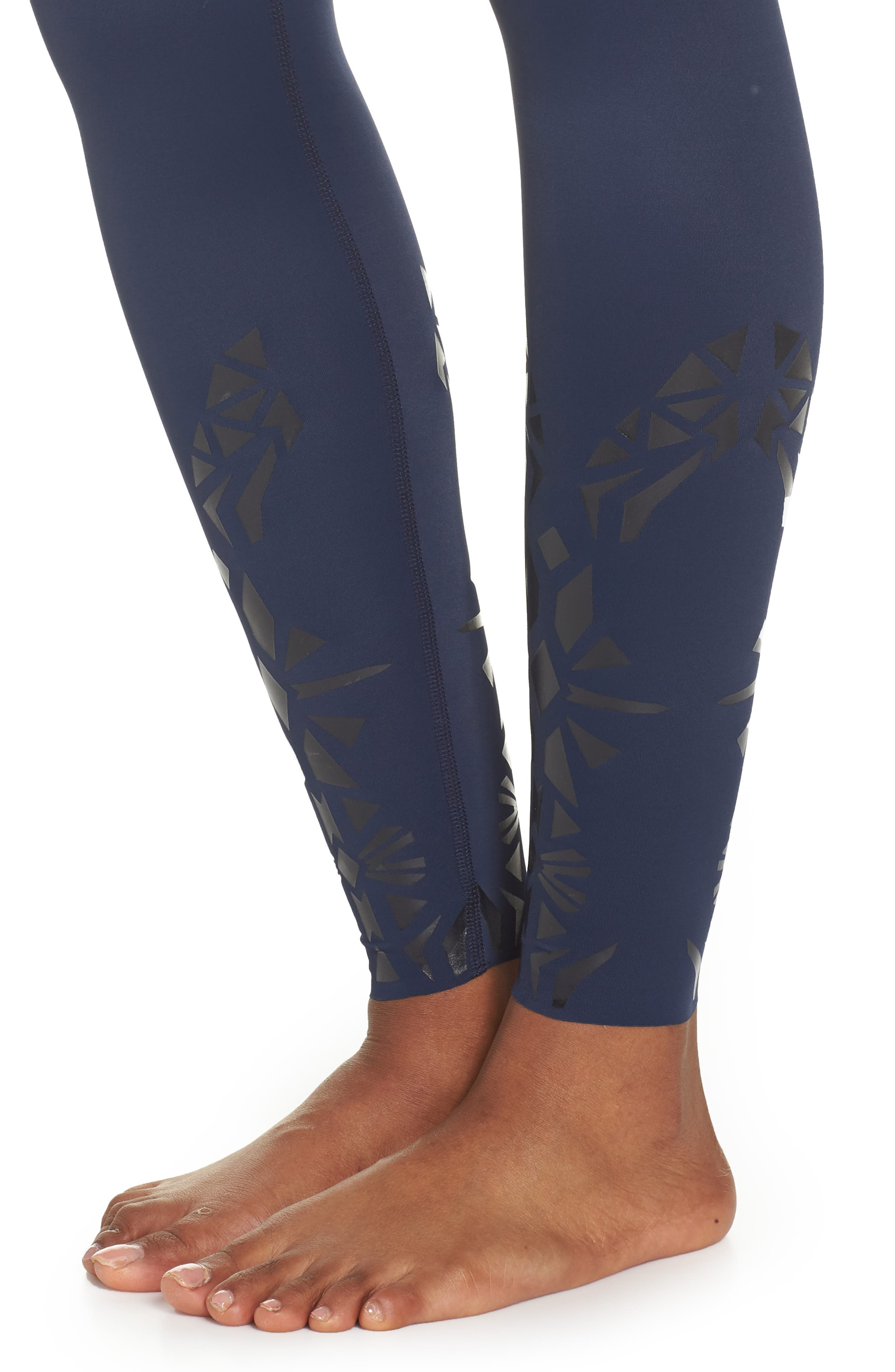 Calico High Waist Leggings,                             Alternate thumbnail 4, color,                             418
