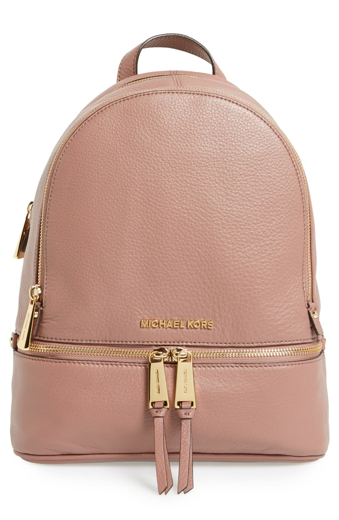 'Extra Small Rhea Zip' Leather Backpack,                             Main thumbnail 8, color,