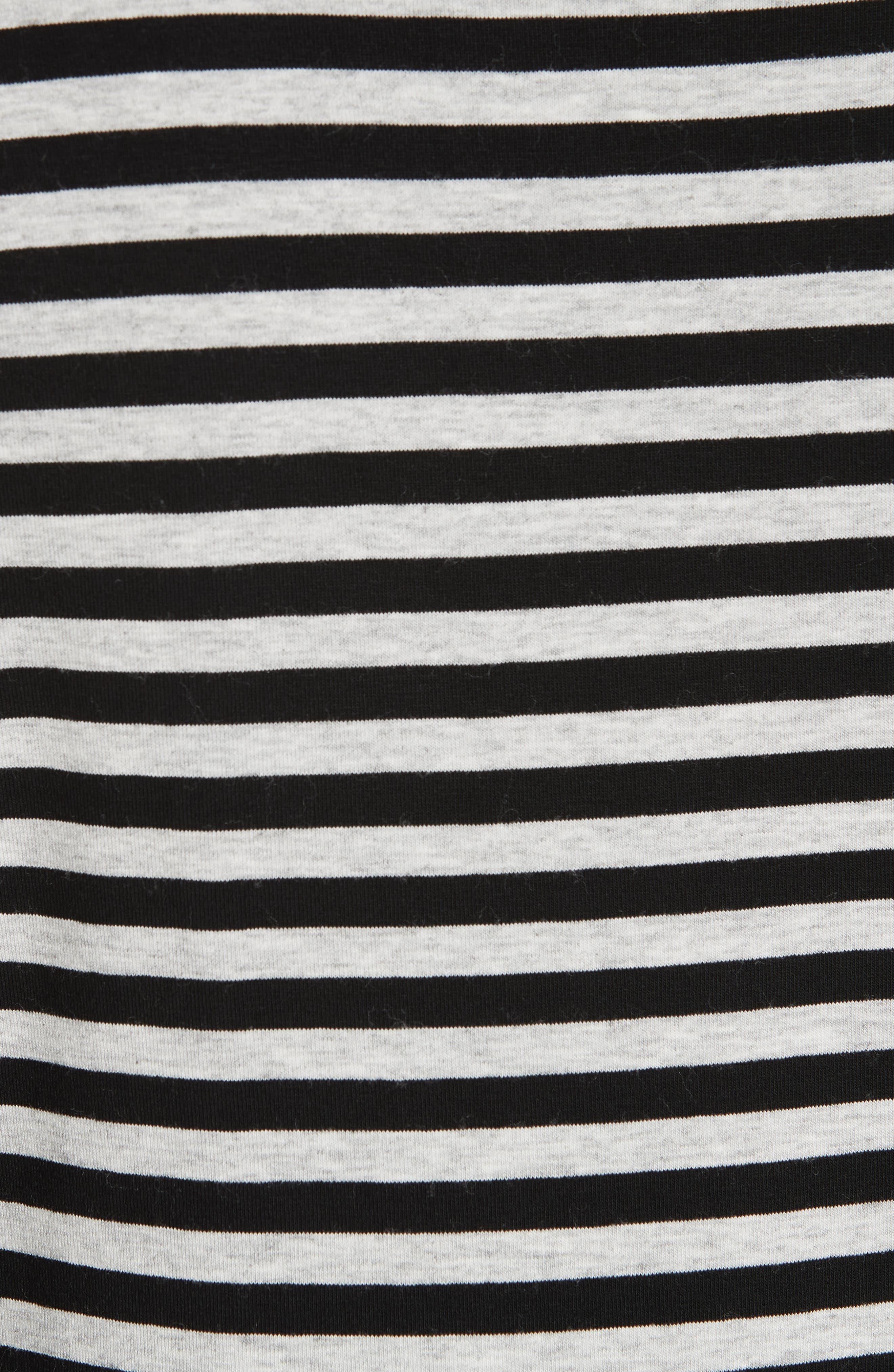 Stripe Top,                             Alternate thumbnail 5, color,                             HEATHER GREY- BLACK STRIPE