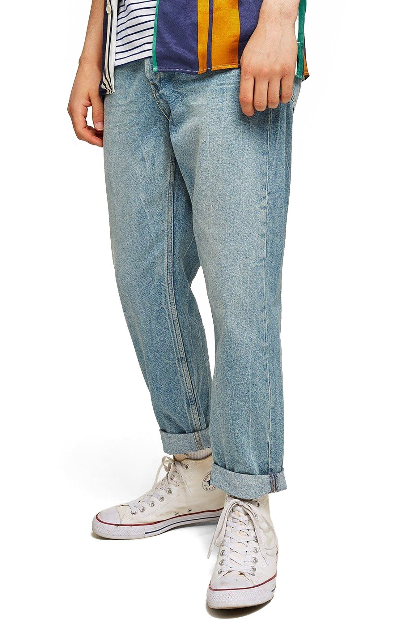 Original Fit Straight Leg Jeans,                         Main,                         color, 400
