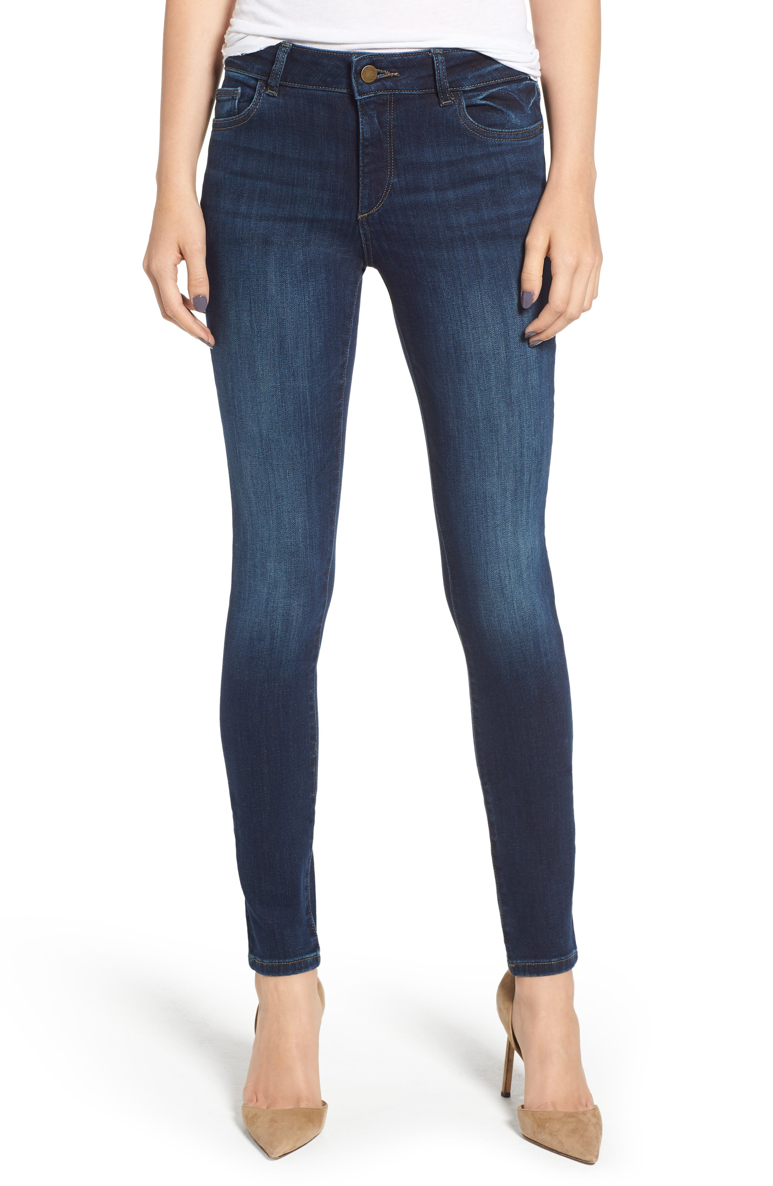 DL1961,                             Florence Instasculpt Skinny Jeans,                             Main thumbnail 1, color,                             410