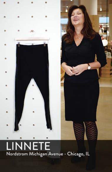 Gemma Faux-Leather Panel Ankle Leggings, sales video thumbnail