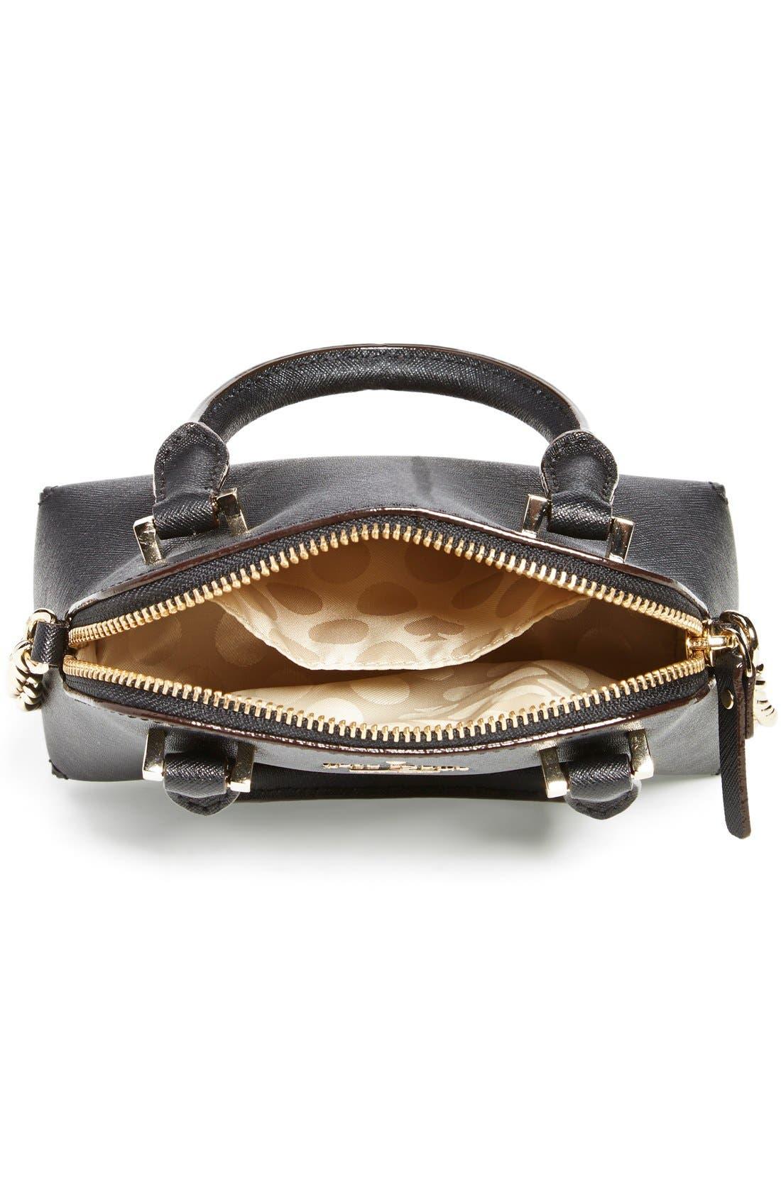 'cedar street - mini maise' crossbody bag,                             Alternate thumbnail 3, color,                             001