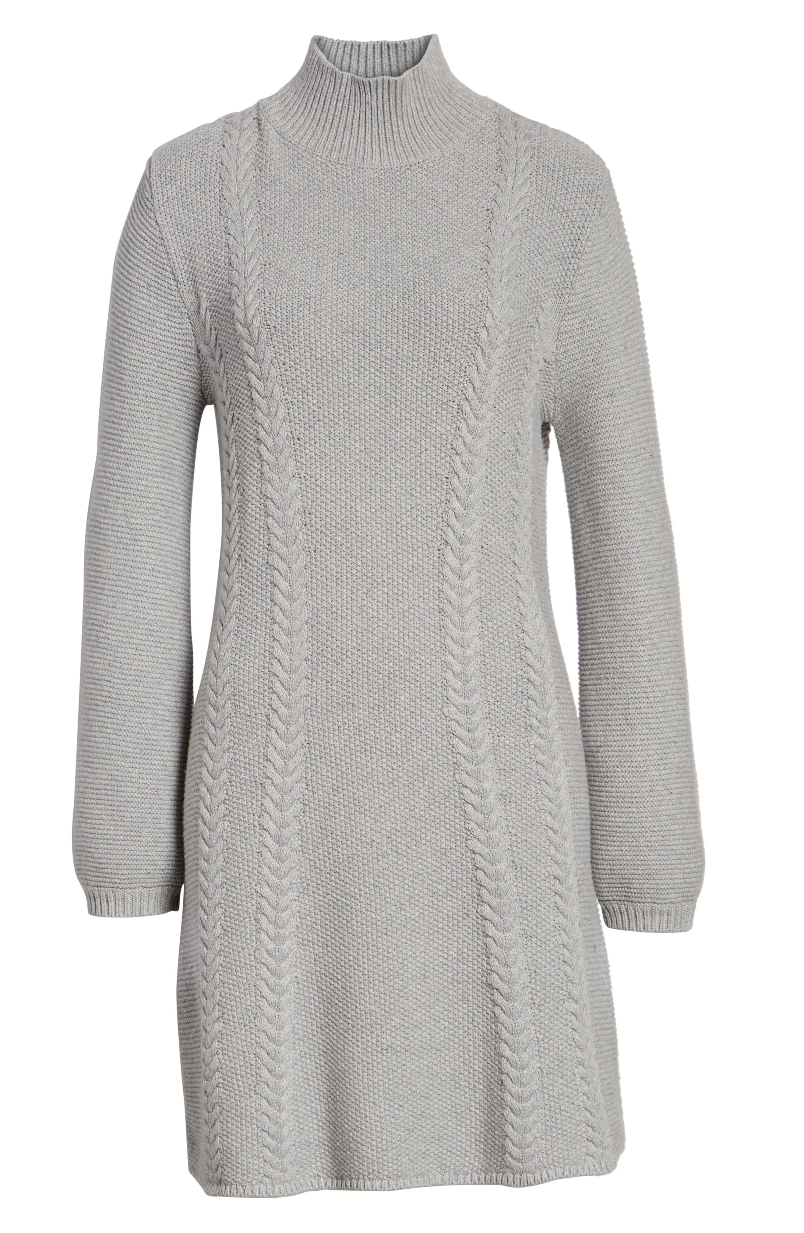 Cable Knit Sweater Dress,                             Alternate thumbnail 12, color,