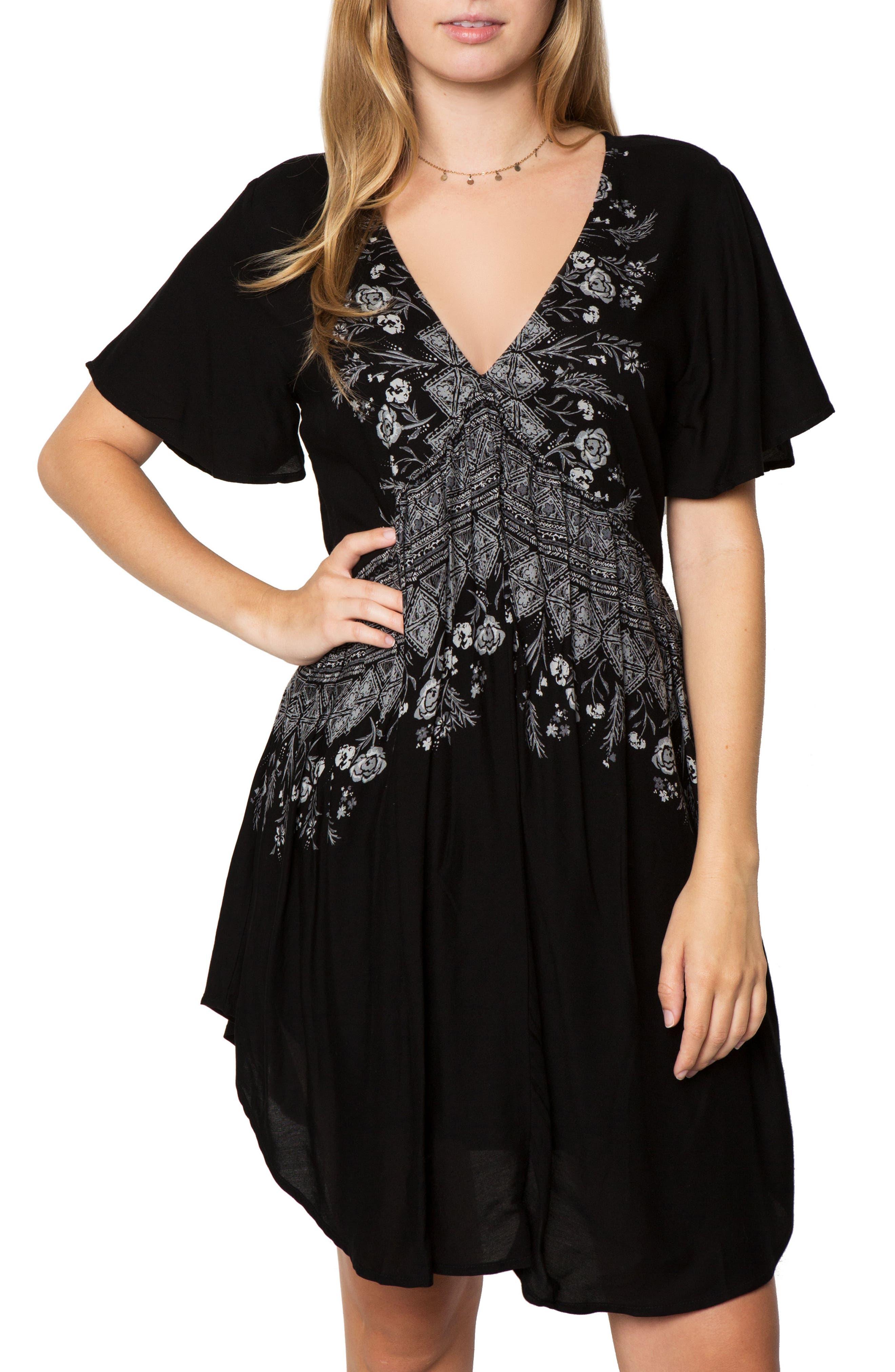 Clovis Print Woven Dress,                             Main thumbnail 1, color,                             001