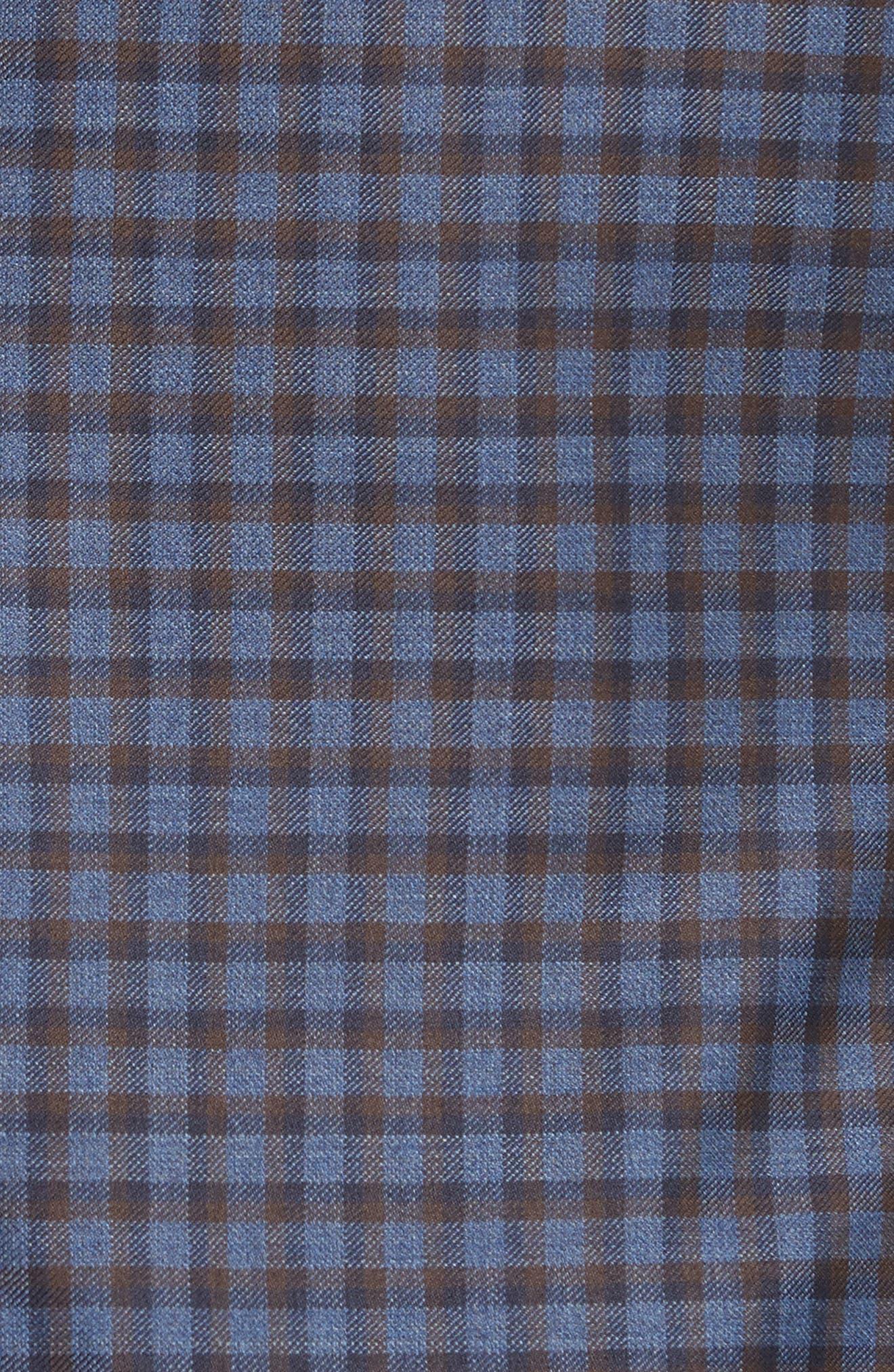 G Line Trim Fit Check Wool Sport Coat,                             Alternate thumbnail 6, color,                             443