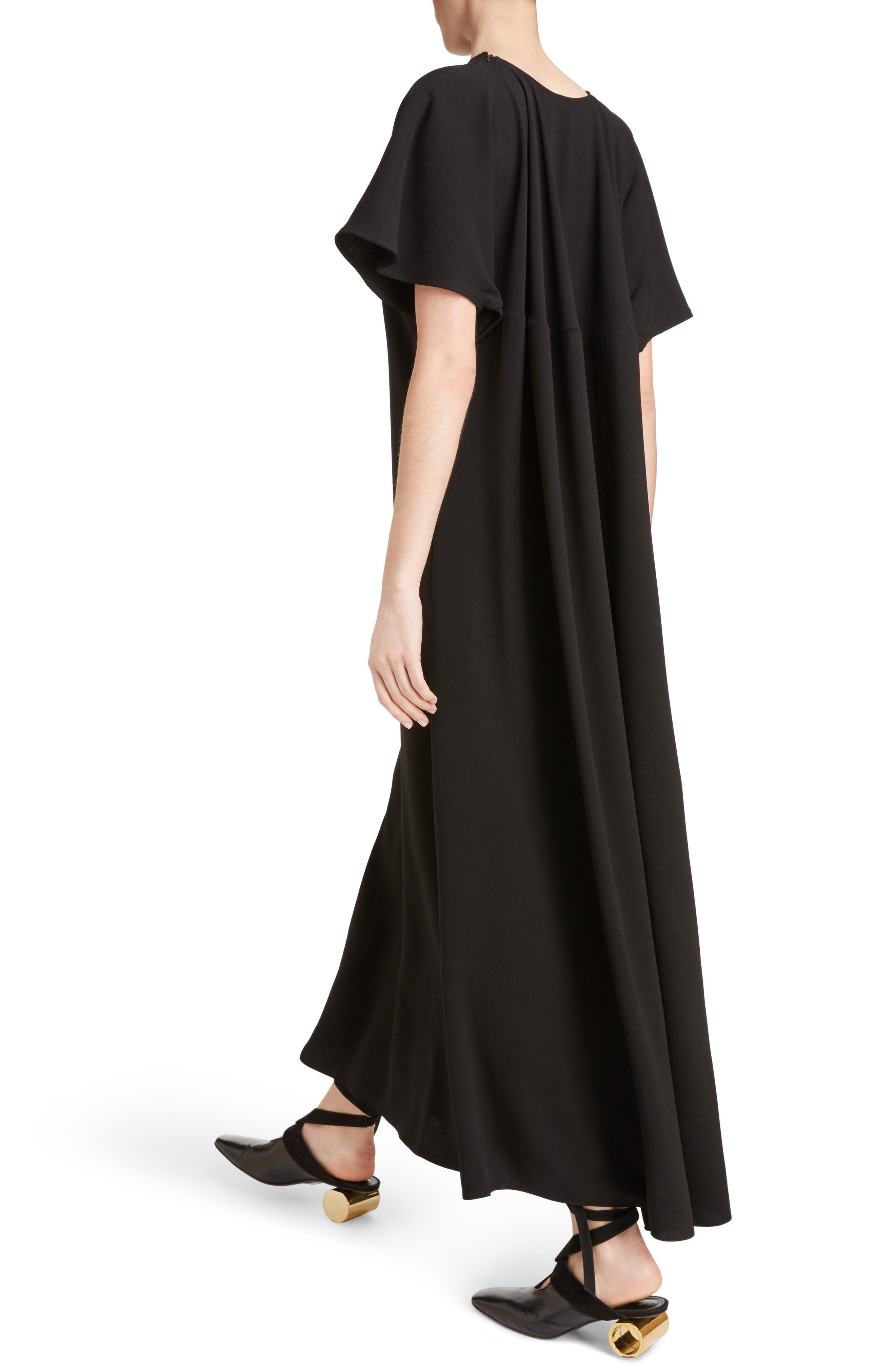 J.W.ANDERSON Cap Sleeve Maxi Dress,                             Alternate thumbnail 4, color,                             001